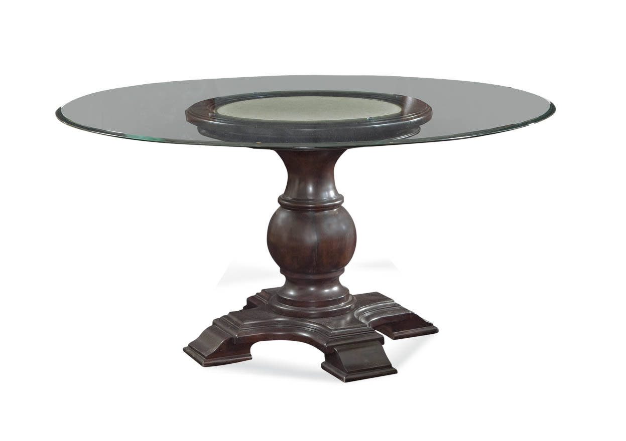 Belgian Luxe Hampton Round Dining Base by Bassett Mirror at Alison Craig Home Furnishings