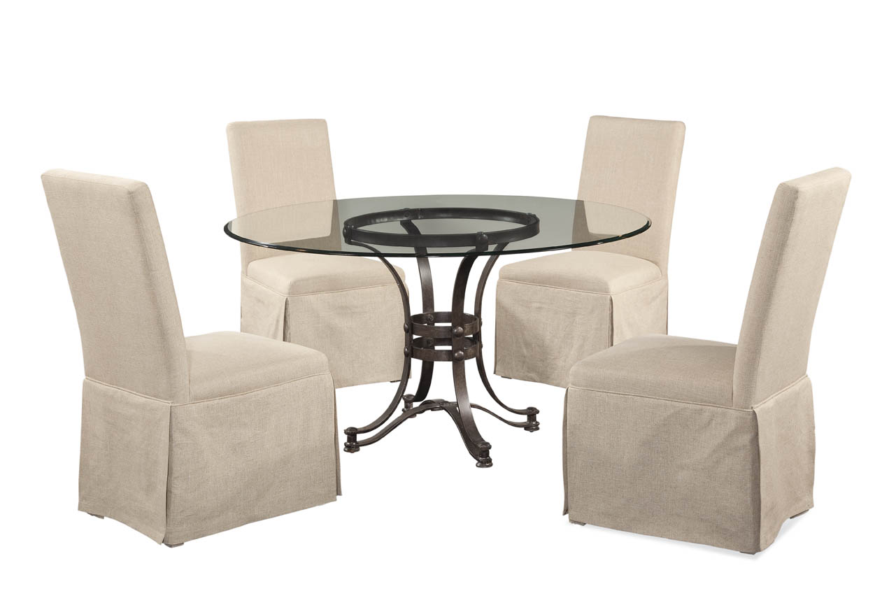 Belgian Luxe Tempe Casual Dining Set by Bassett Mirror at Alison Craig Home Furnishings