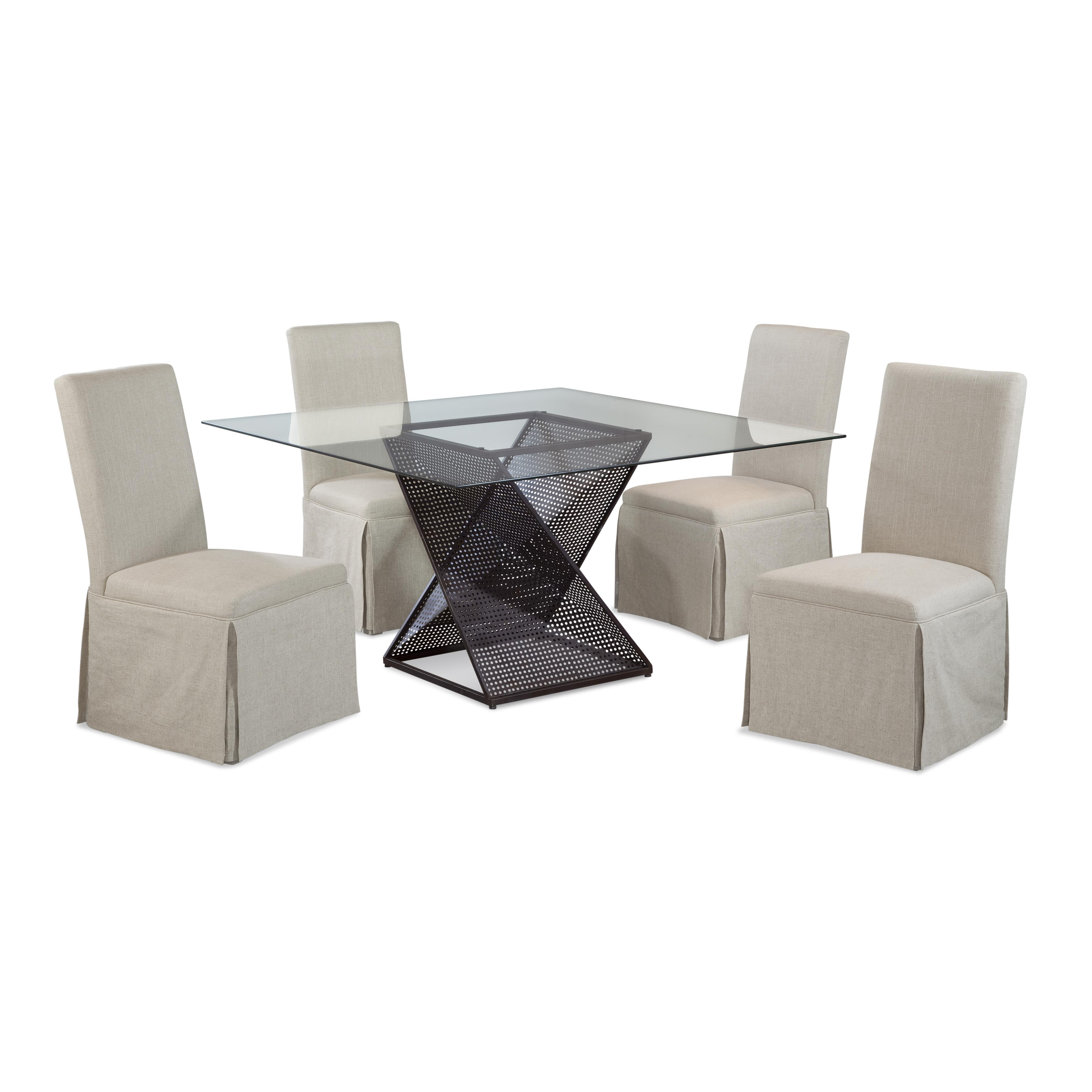 Belgian Luxe Bolton Casual Dining Set by Bassett Mirror at Alison Craig Home Furnishings