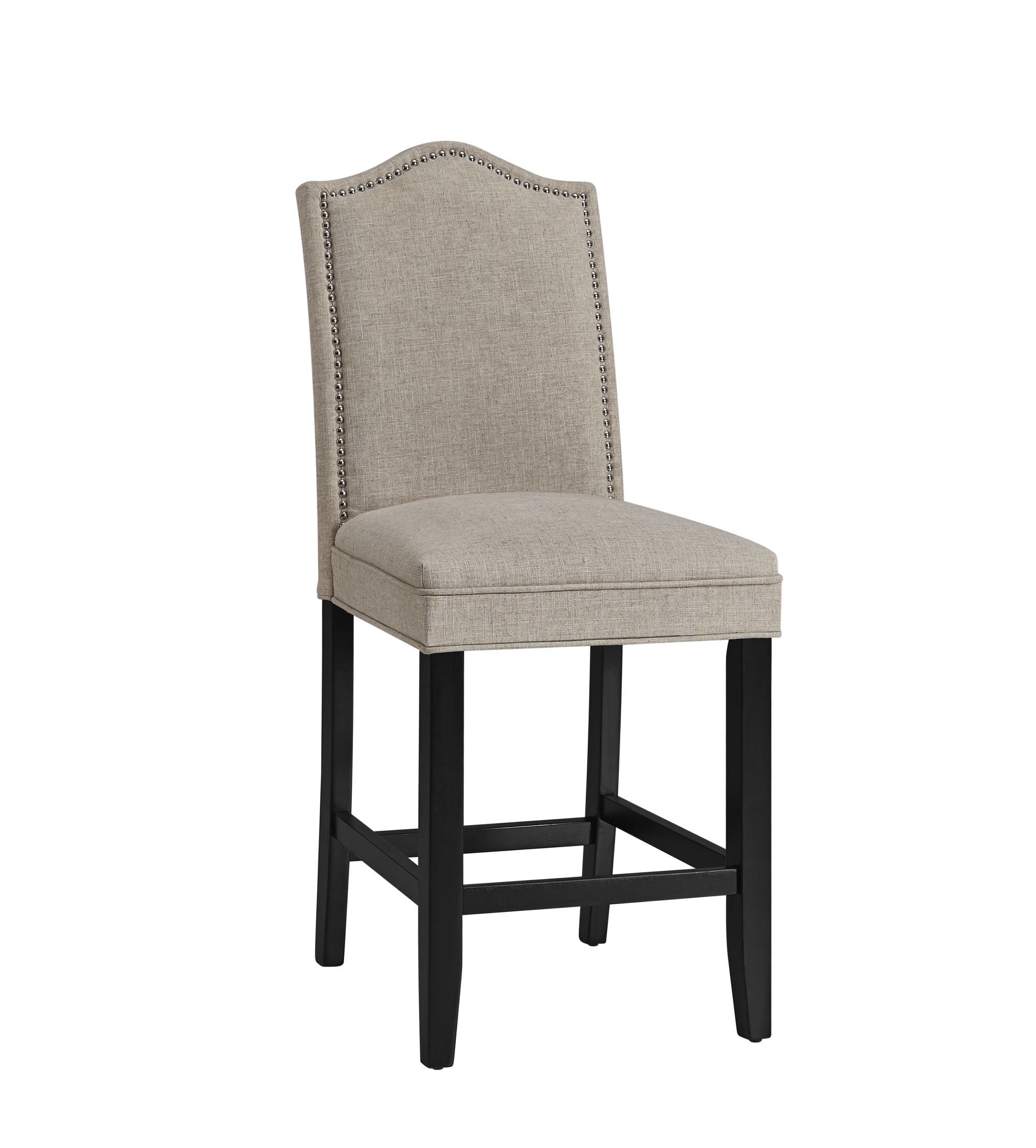 Belgian Luxe Camelback Counter Stool by Bassett Mirror at Alison Craig Home Furnishings