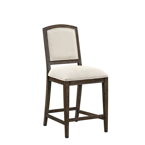 Belgian Luxe Marlette Side Counter Stool by Bassett Mirror at Alison Craig Home Furnishings