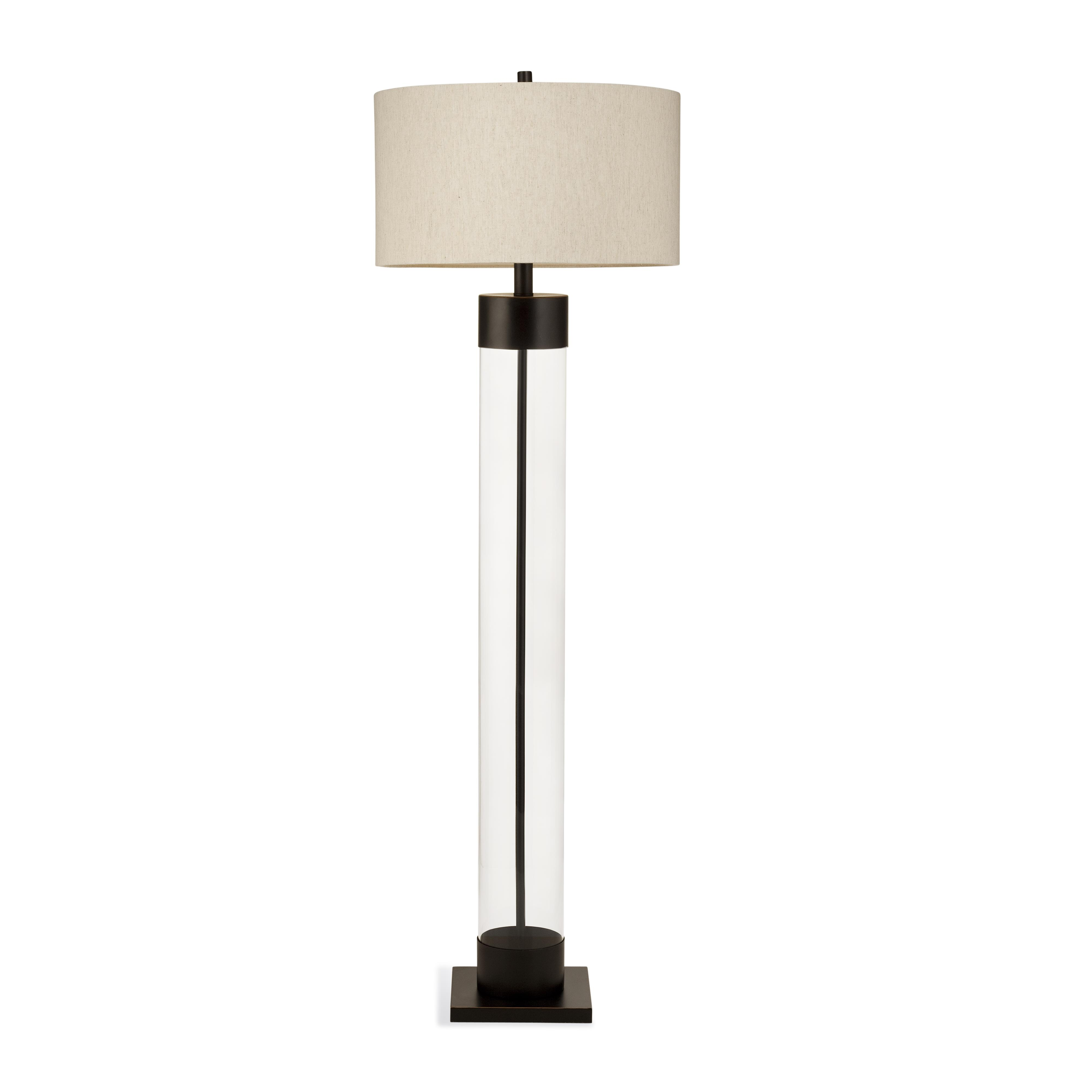 Belgian Luxe Haines Floor Lamp by Bassett Mirror at Alison Craig Home Furnishings