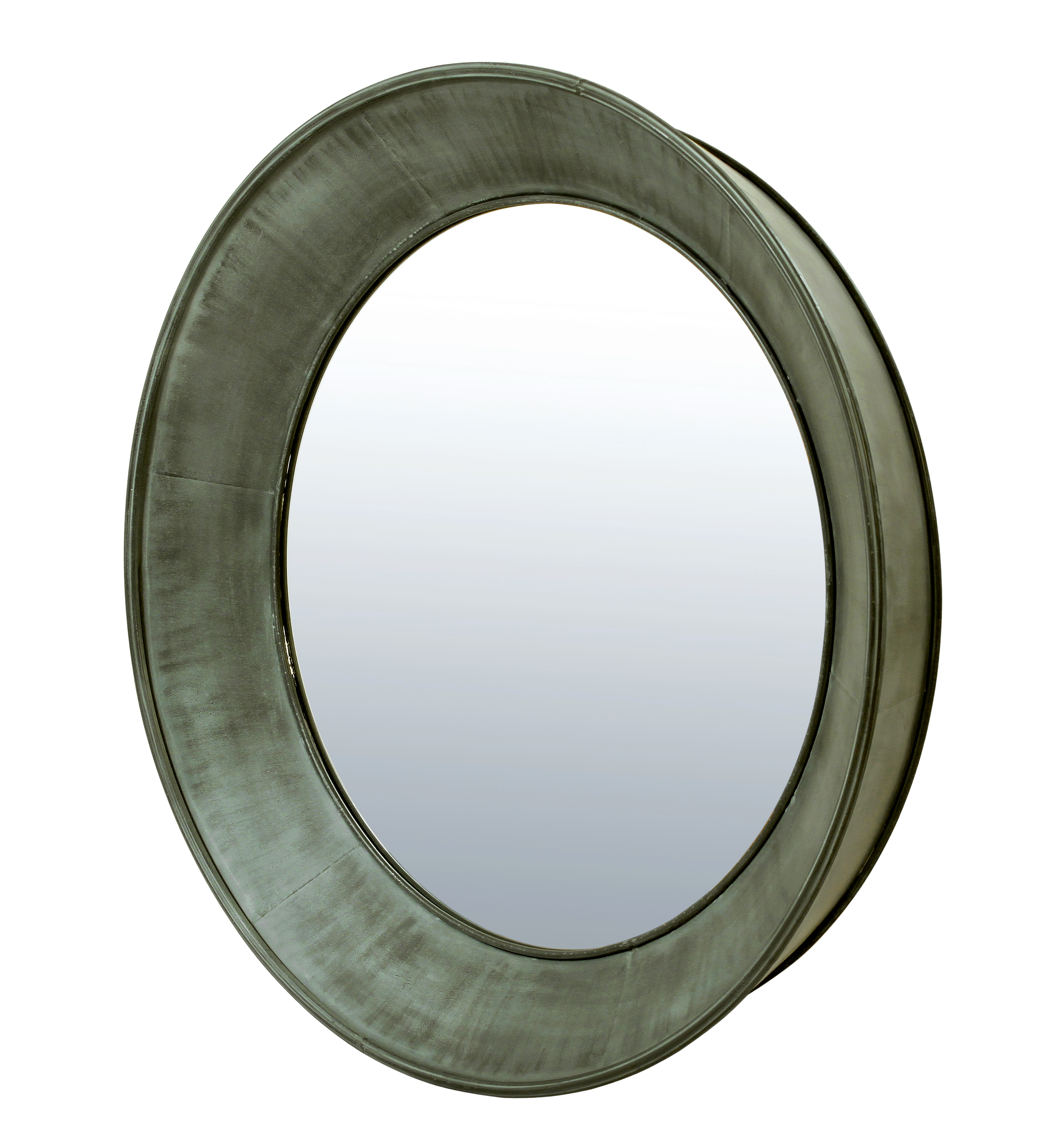 Belgian Luxe Zinc Wall Mirror by Bassett Mirror at Alison Craig Home Furnishings