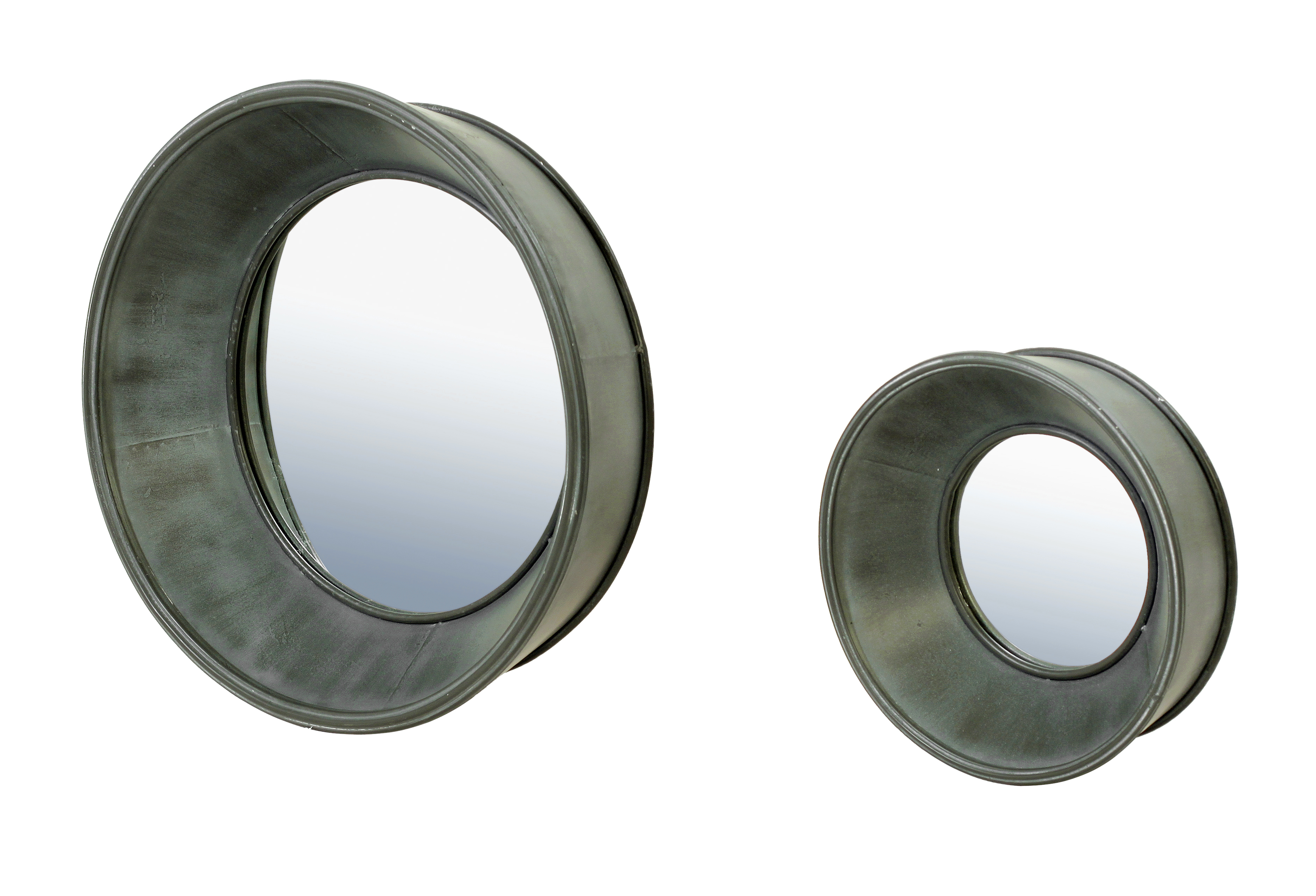 Belgian Luxe Porthole Wall Mirror Set/2 by Bassett Mirror at Alison Craig Home Furnishings