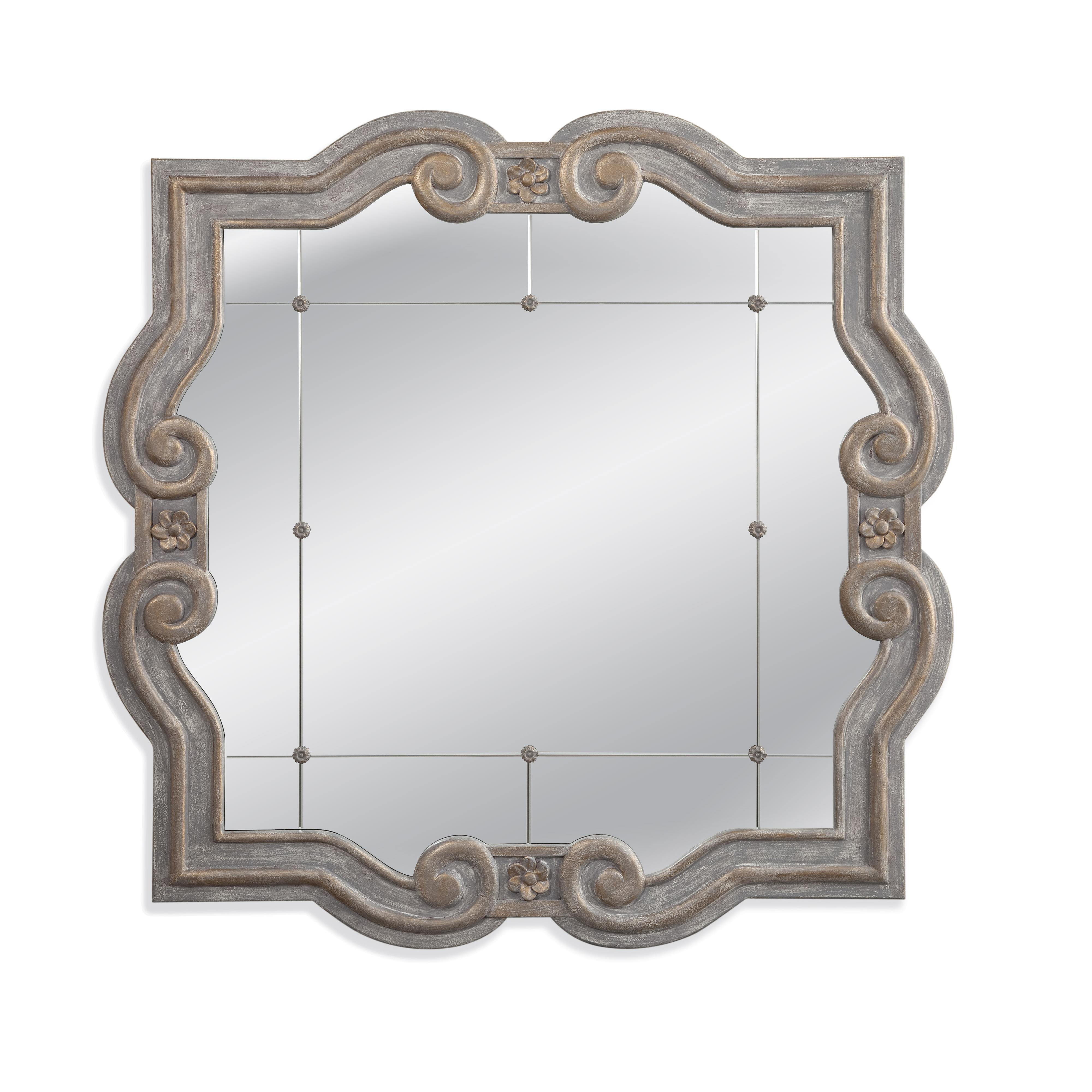 Belgian Luxe Patterson Wall Mirror by Bassett Mirror at Alison Craig Home Furnishings