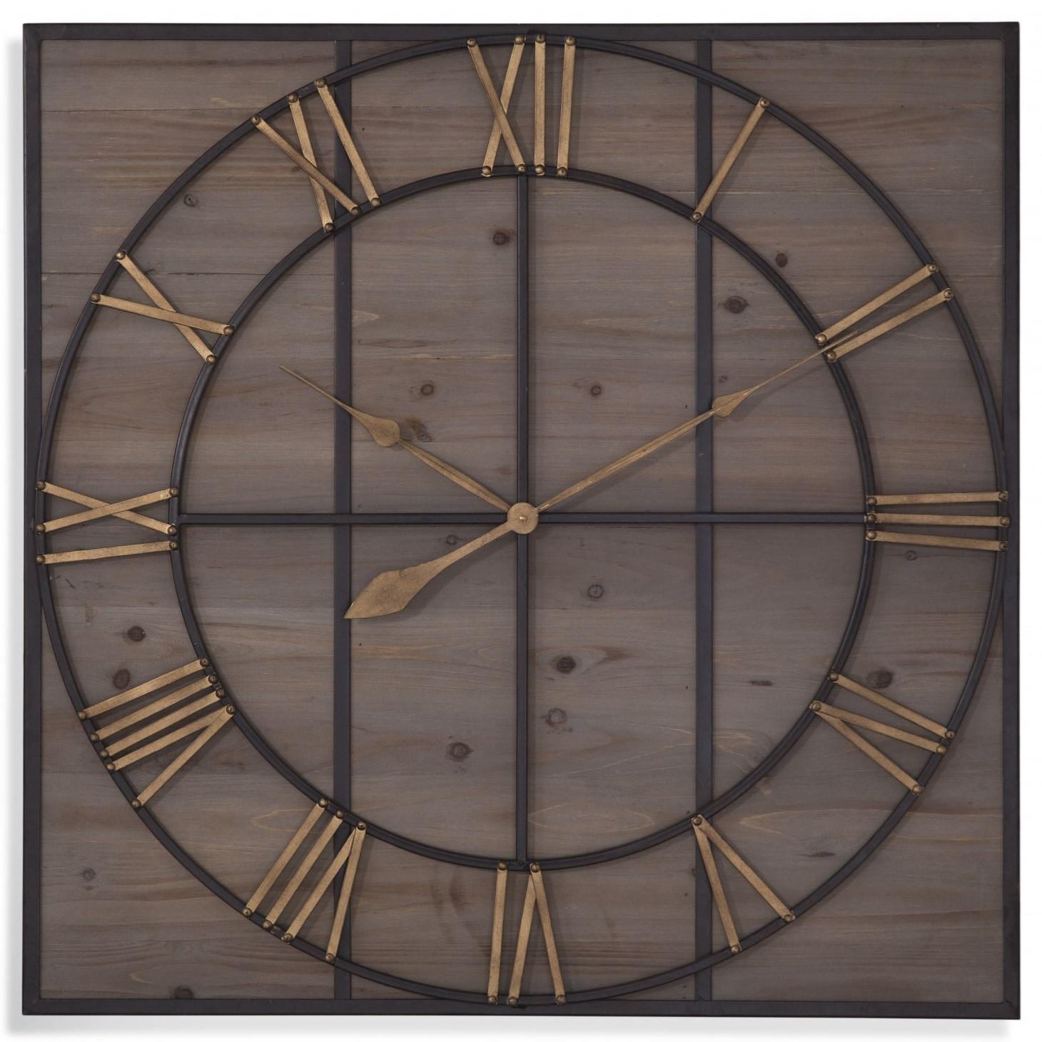 Belgian Luxe Eldridge Wall Clock by Bassett Mirror at Alison Craig Home Furnishings