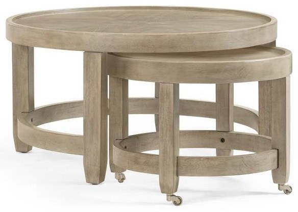 Bellamy Round Cocktail Table by Bassett Mirror at Johnny Janosik