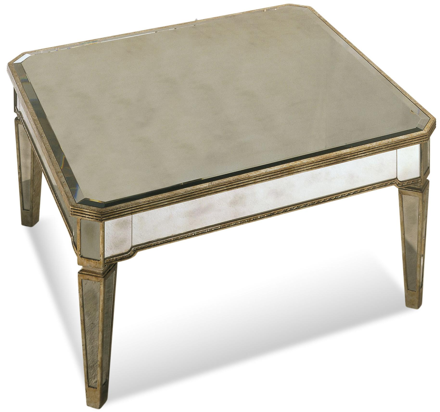 Borghese Square Cocktail Table by Bassett Mirror at Alison Craig Home Furnishings