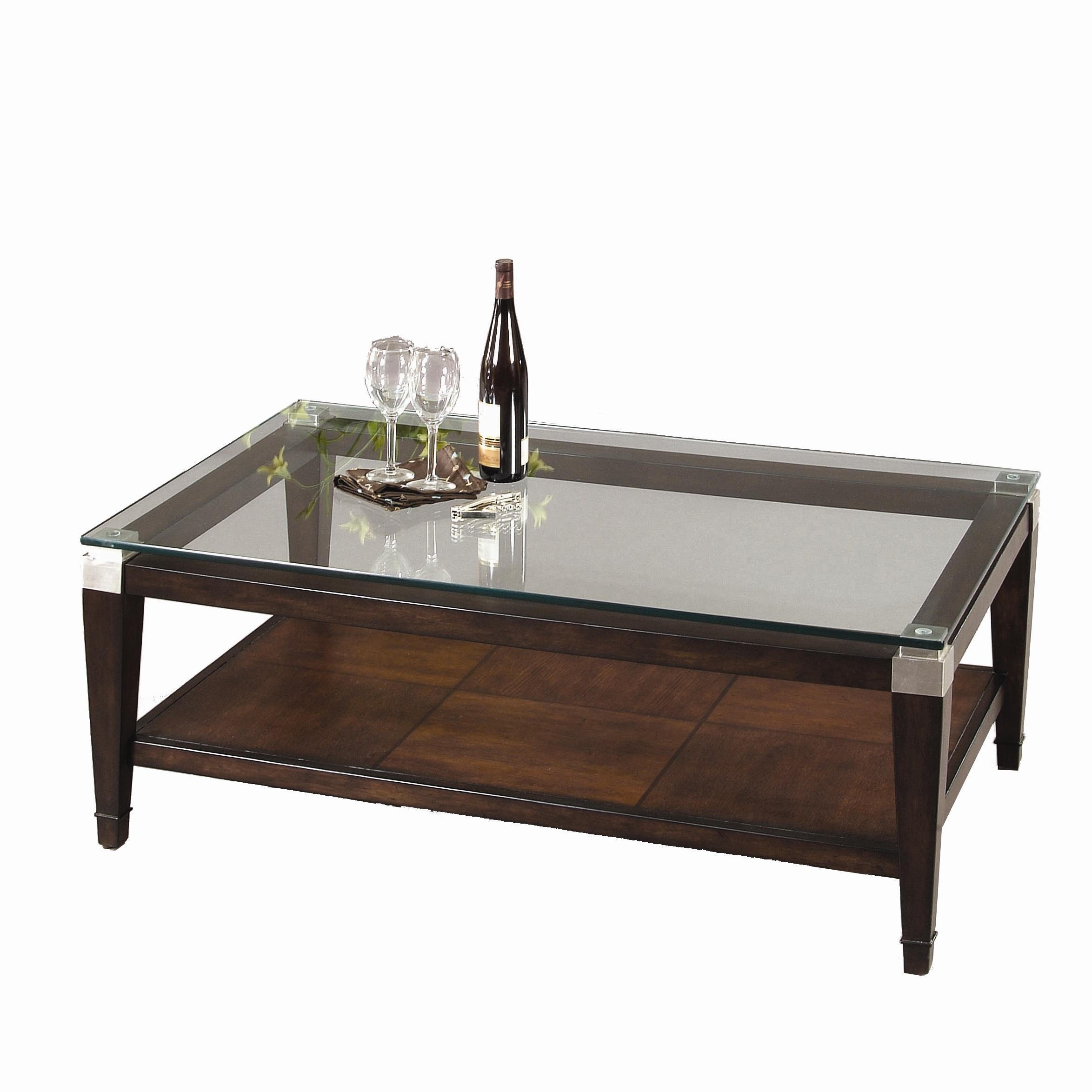 Dunhill Rectangle Cocktail Table by Bassett Mirror at Lapeer Furniture & Mattress Center