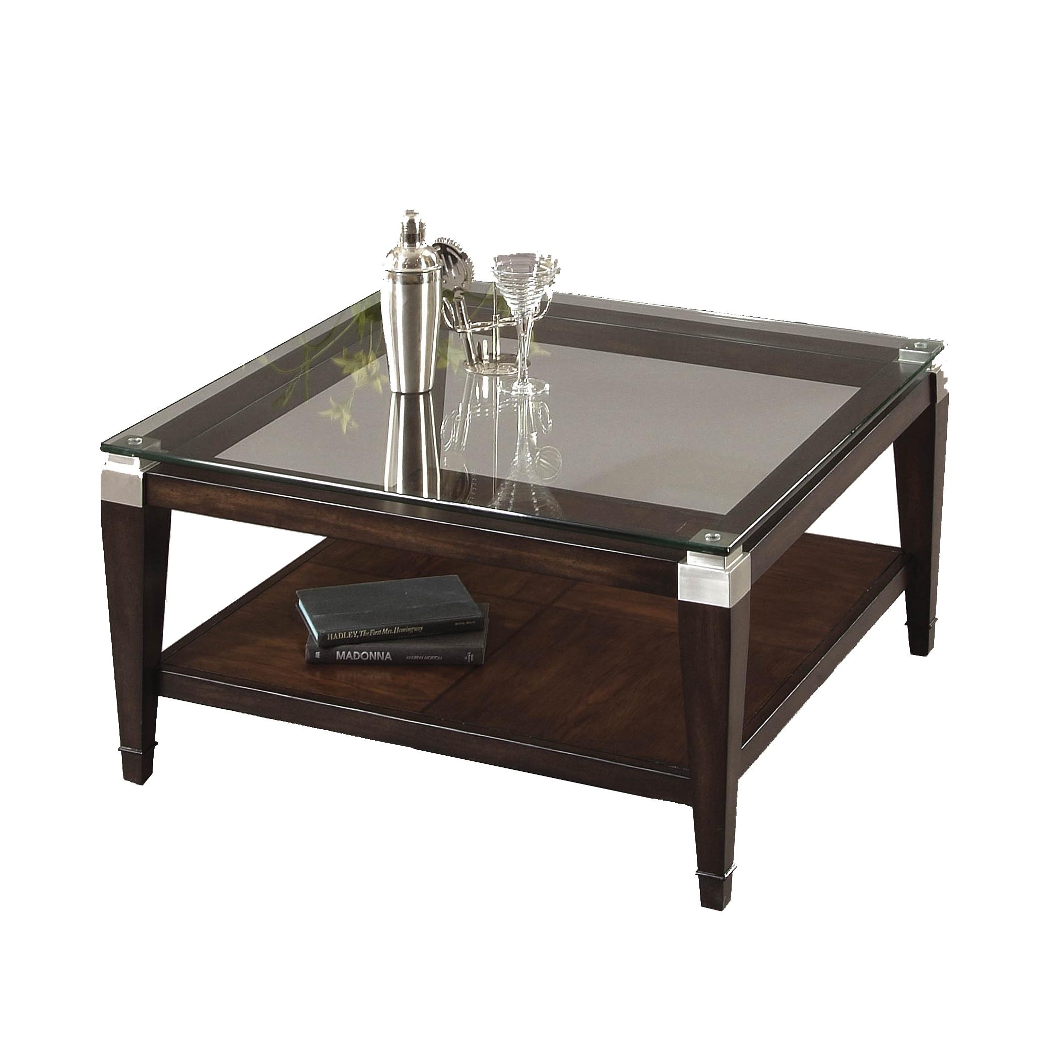 Dunhill Square Cocktail Table by Bassett Mirror at Lapeer Furniture & Mattress Center