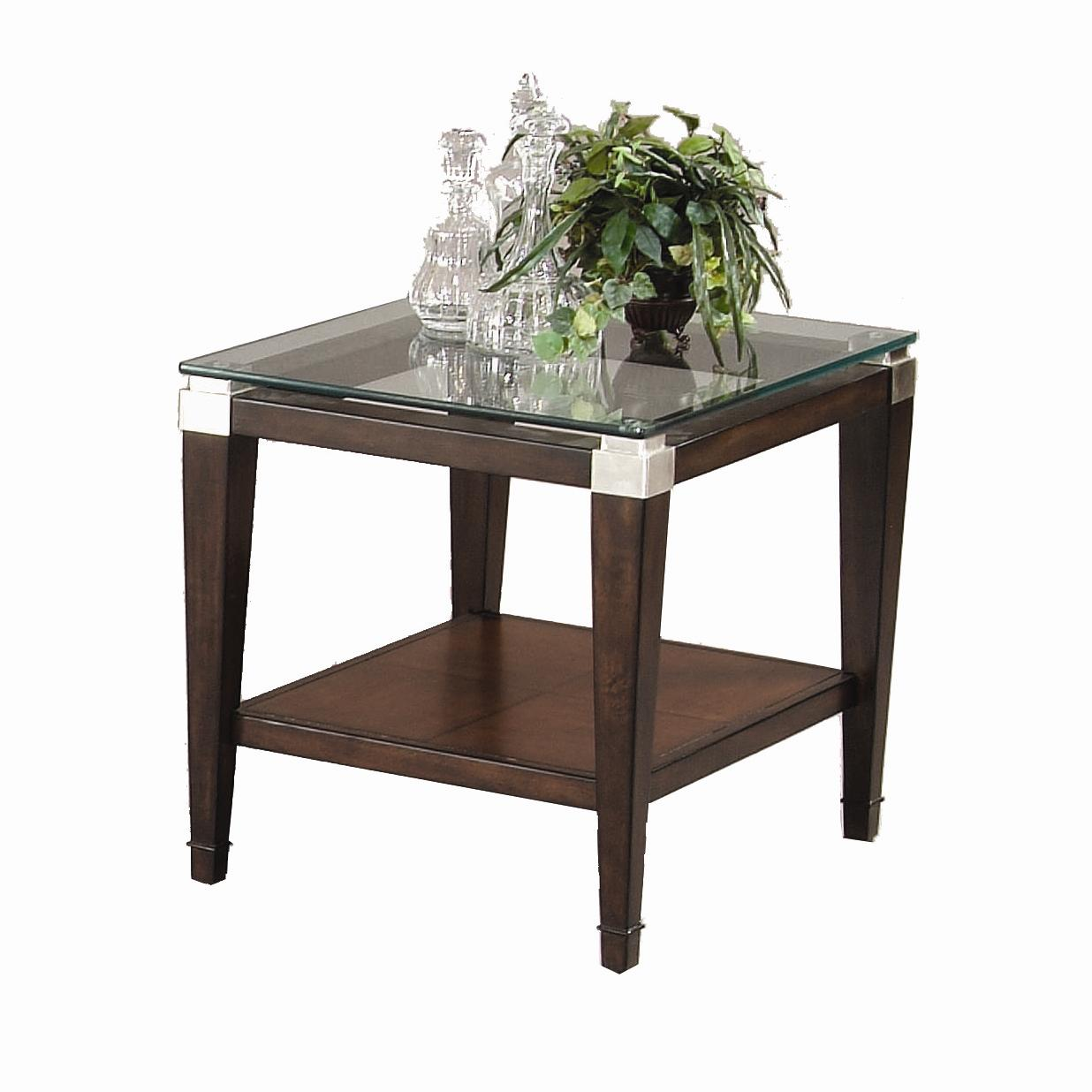 Dunhill Rectangle End Table by Bassett Mirror at Alison Craig Home Furnishings