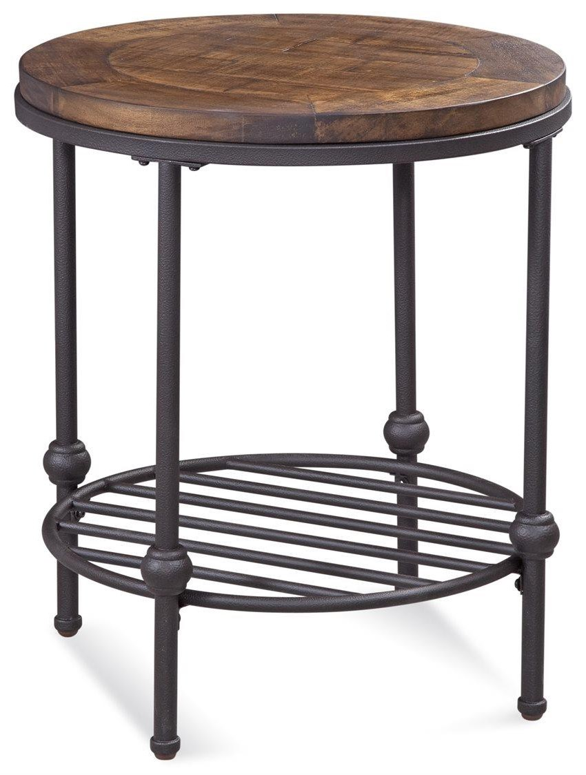 Emery Round End Table by Bassett Mirror at Darvin Furniture