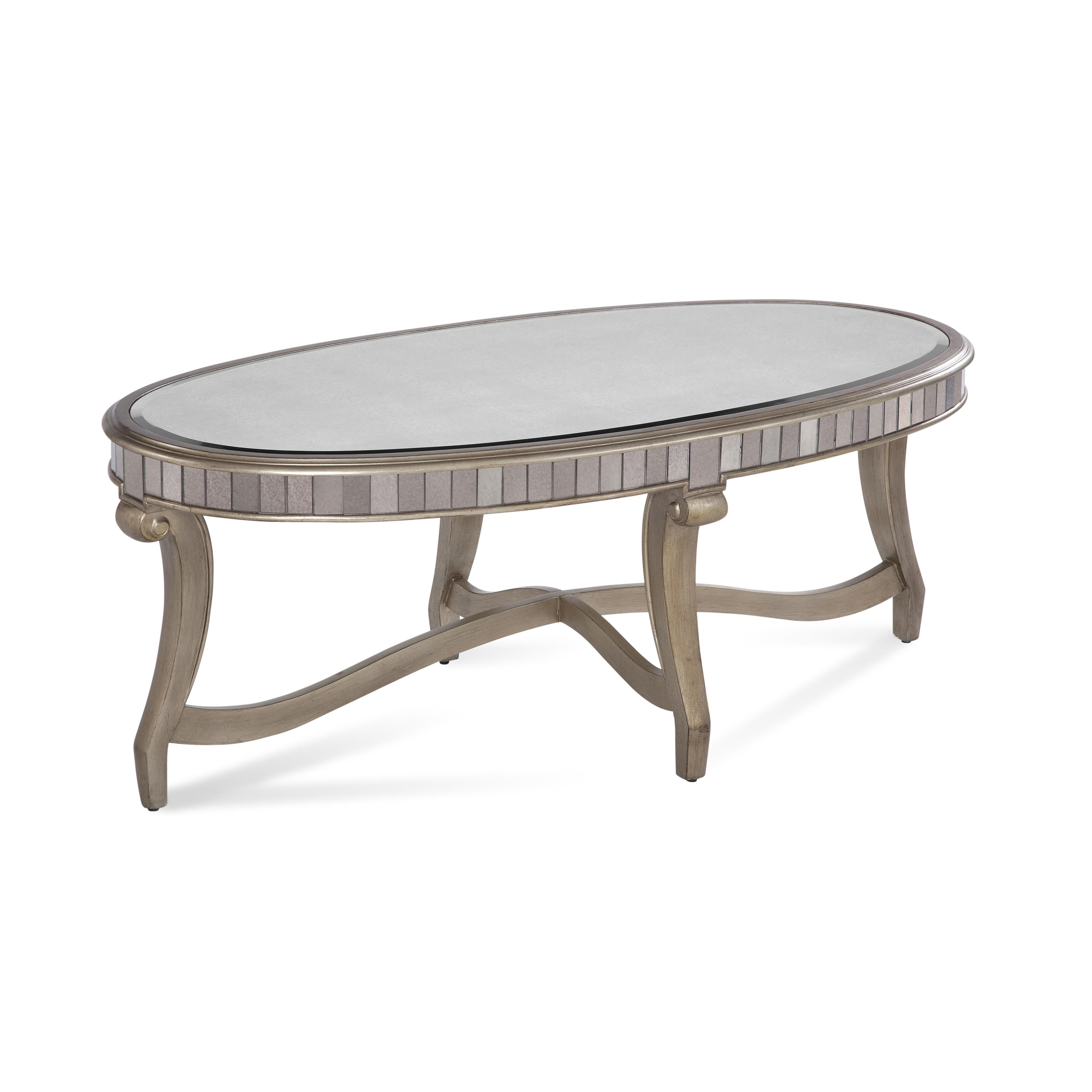 Hollywood Glam Celine Oval Cocktail Table by Bassett Mirror at Nassau Furniture and Mattress