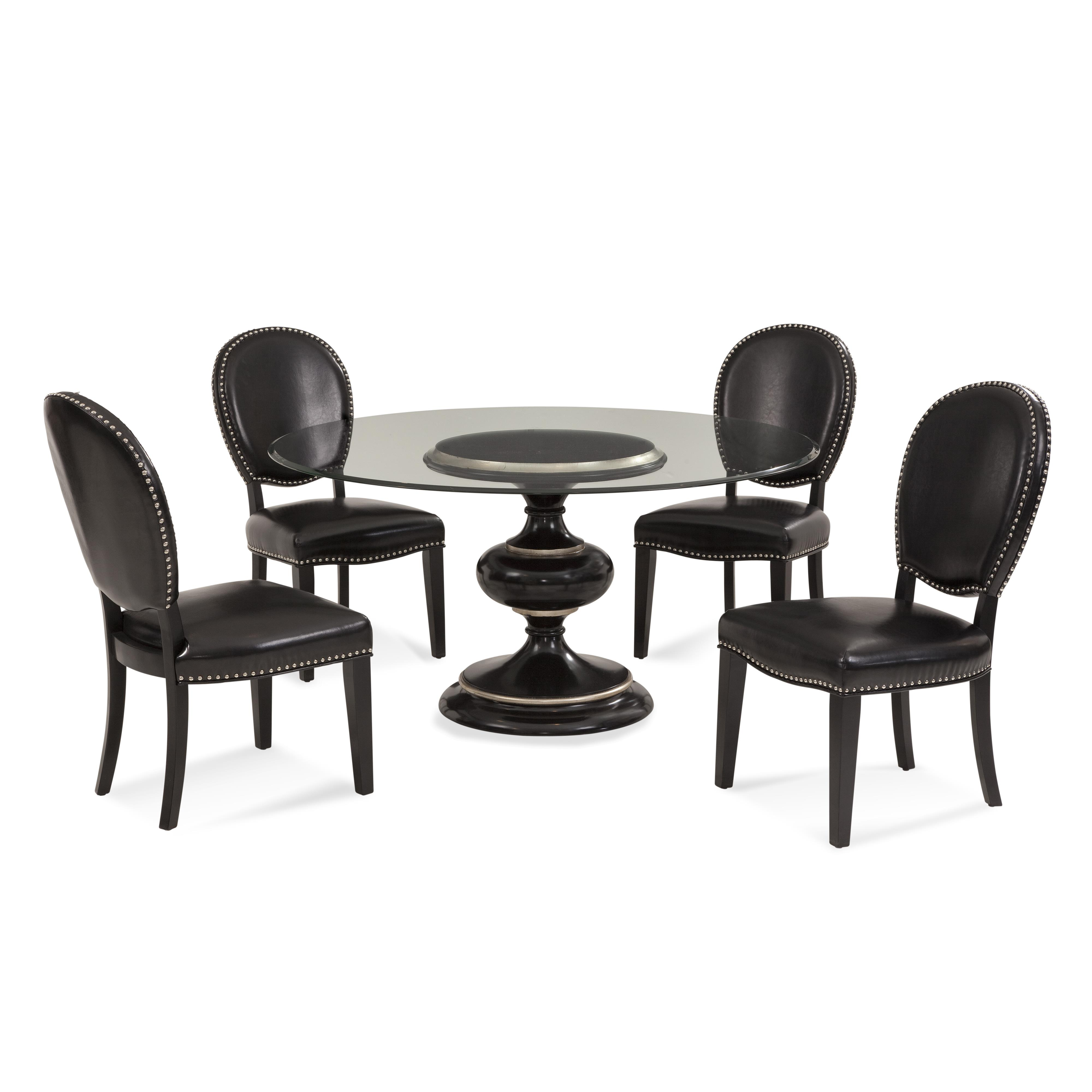 Hollywood Glam Covington Casual Dining Set by Bassett Mirror at Alison Craig Home Furnishings
