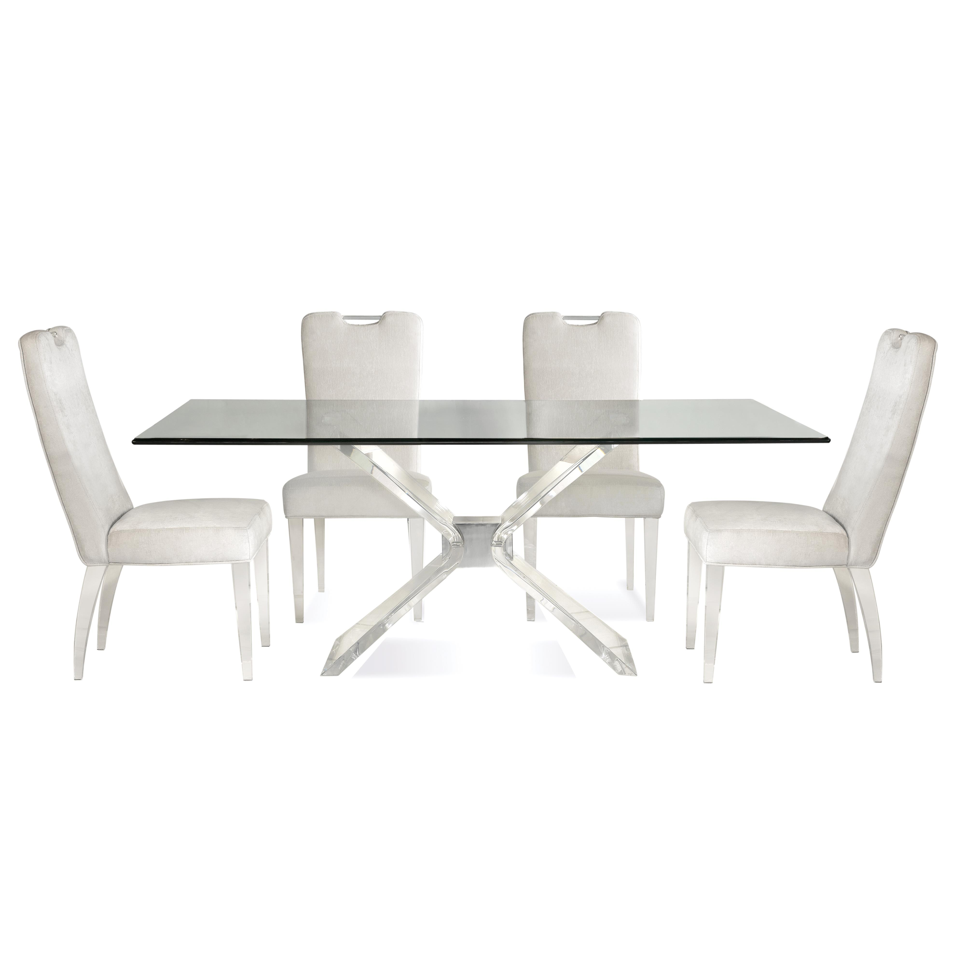 Hollywood Glam Silven Casual Dining Set by Bassett Mirror at Alison Craig Home Furnishings