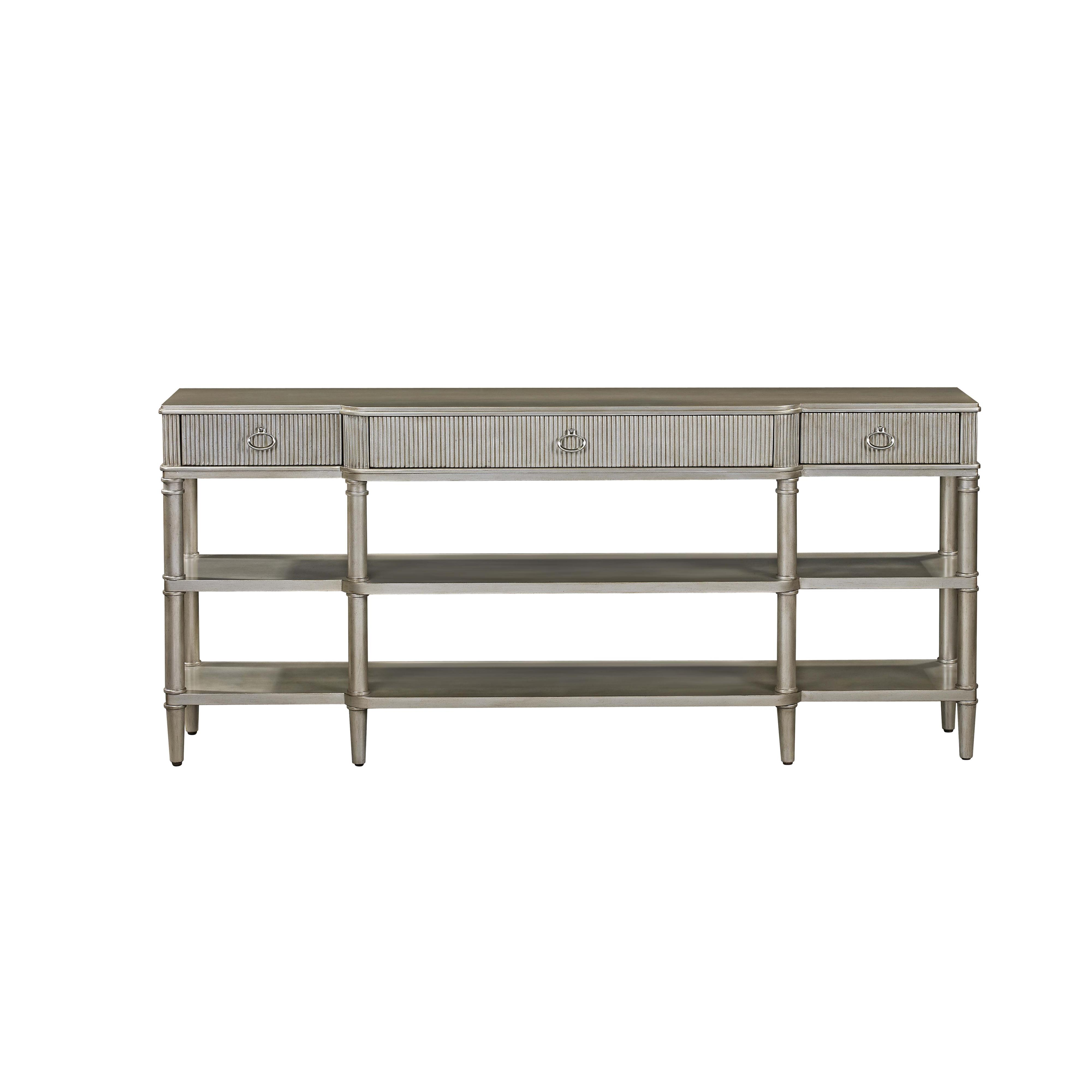 Hollywood Glam Vanesta Breakfront Console by Bassett Mirror at Alison Craig Home Furnishings