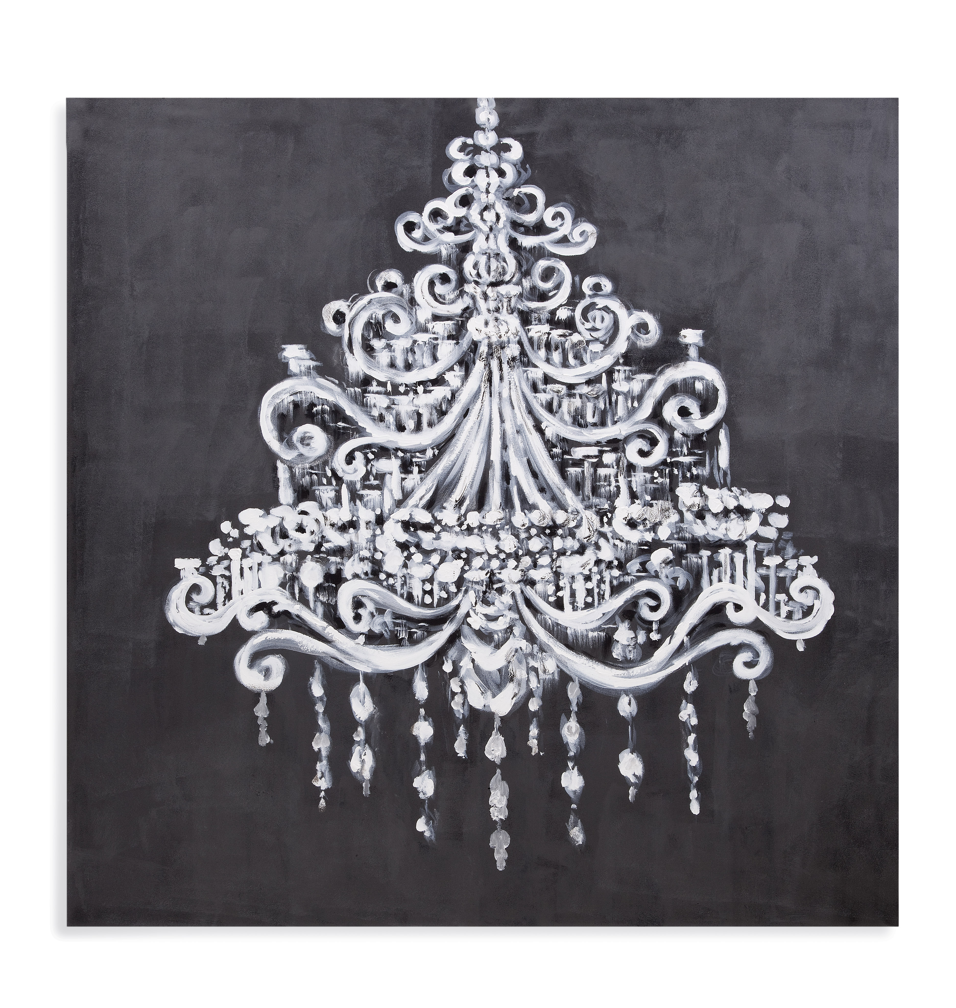 Hollywood Glam Dramatic Chandelier by Bassett Mirror at Lapeer Furniture & Mattress Center