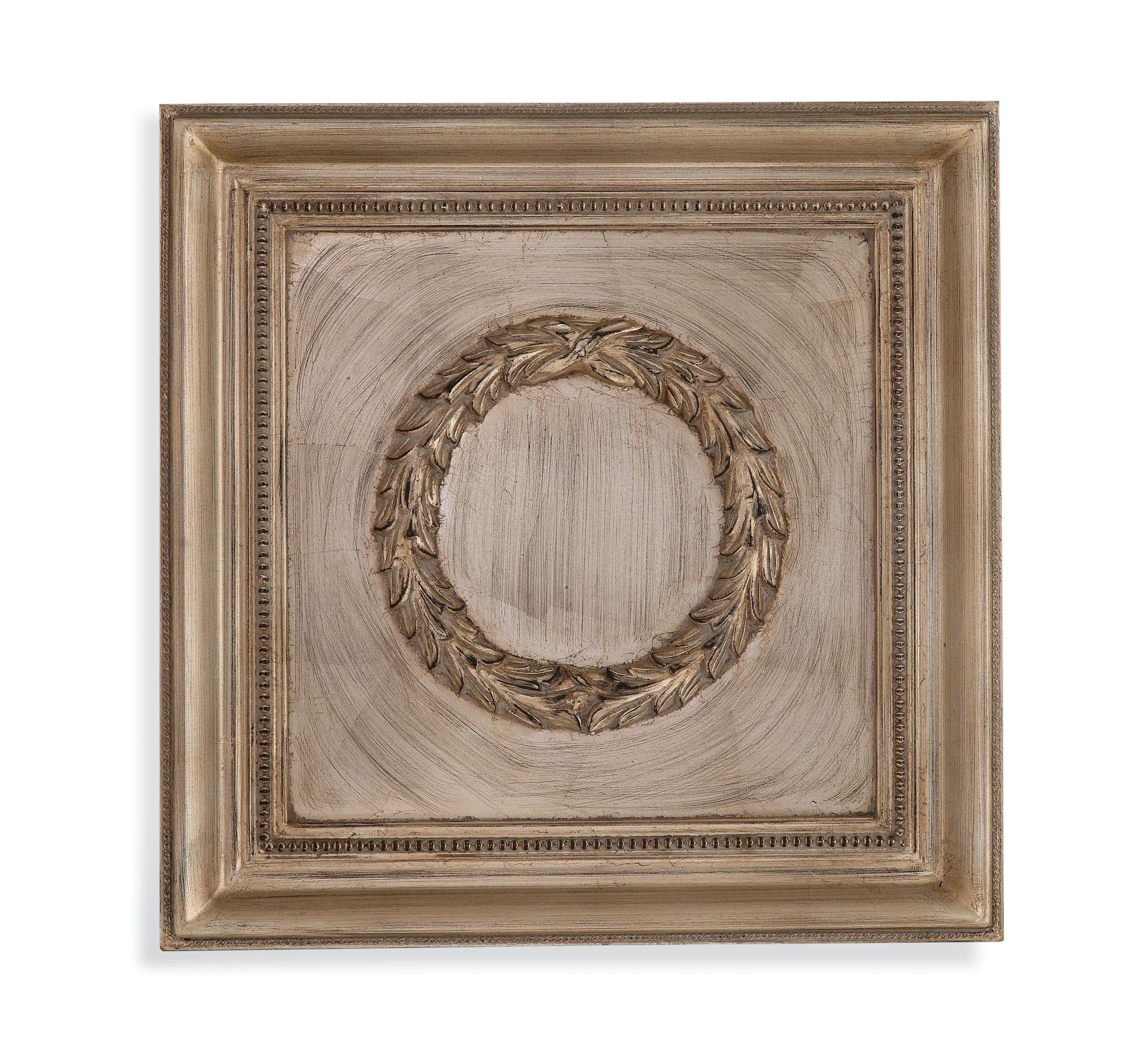 Hollywood Glam Laurel Wreath Wall Medallion by Bassett Mirror at Alison Craig Home Furnishings