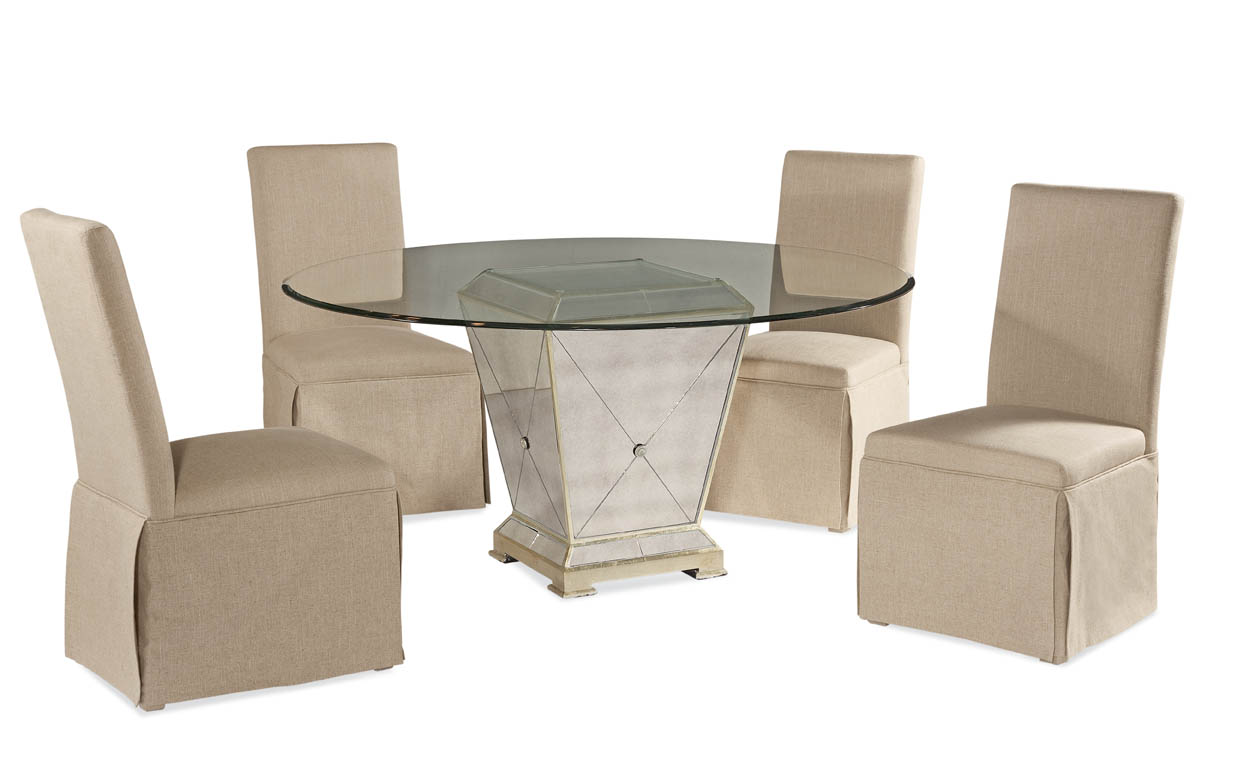 Hollywood Glam Borghese Casual Dining Set by Bassett Mirror at Alison Craig Home Furnishings