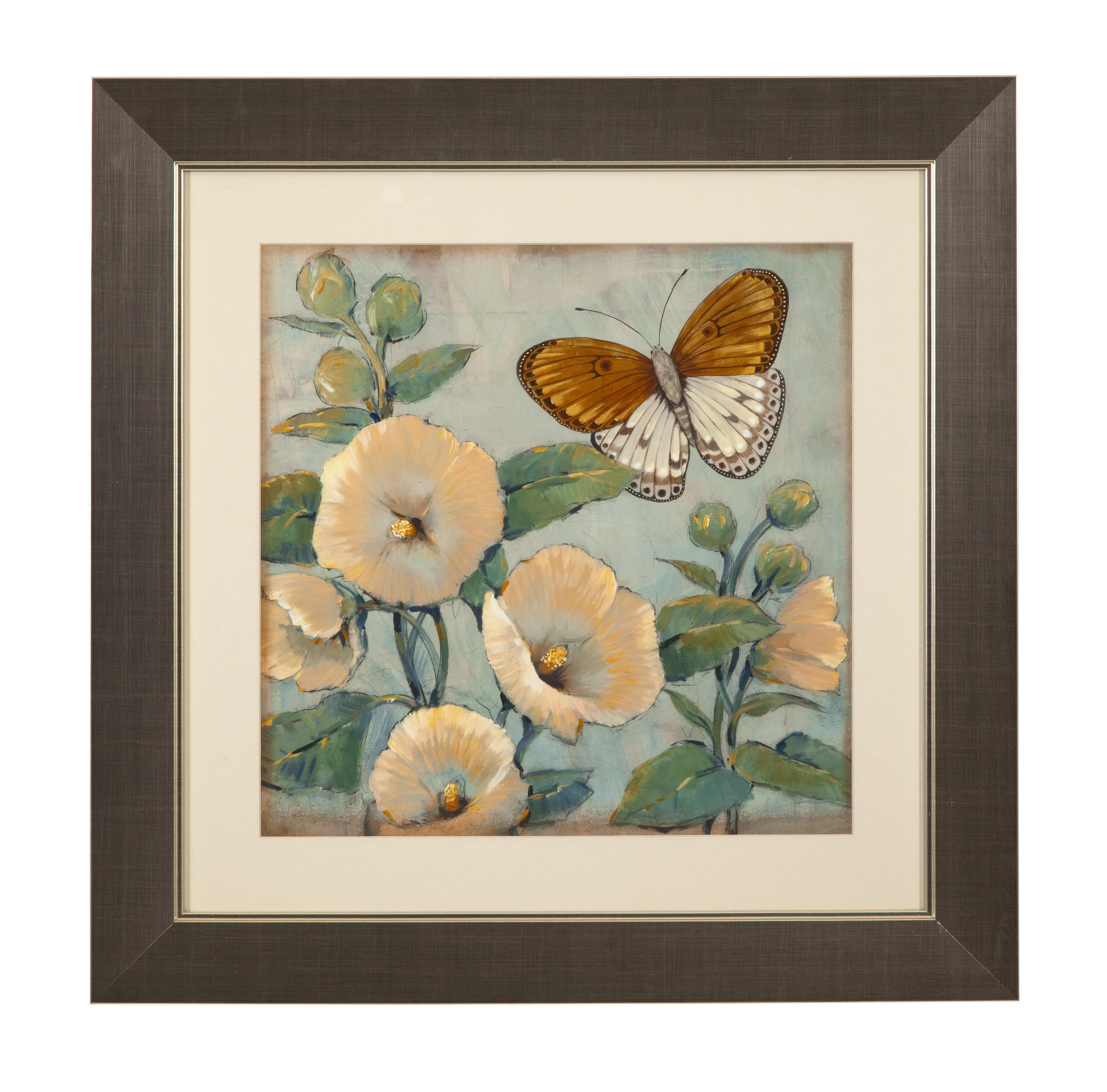 Hollywood Glam Butterfly & Hollyhocks I by Bassett Mirror at Lapeer Furniture & Mattress Center