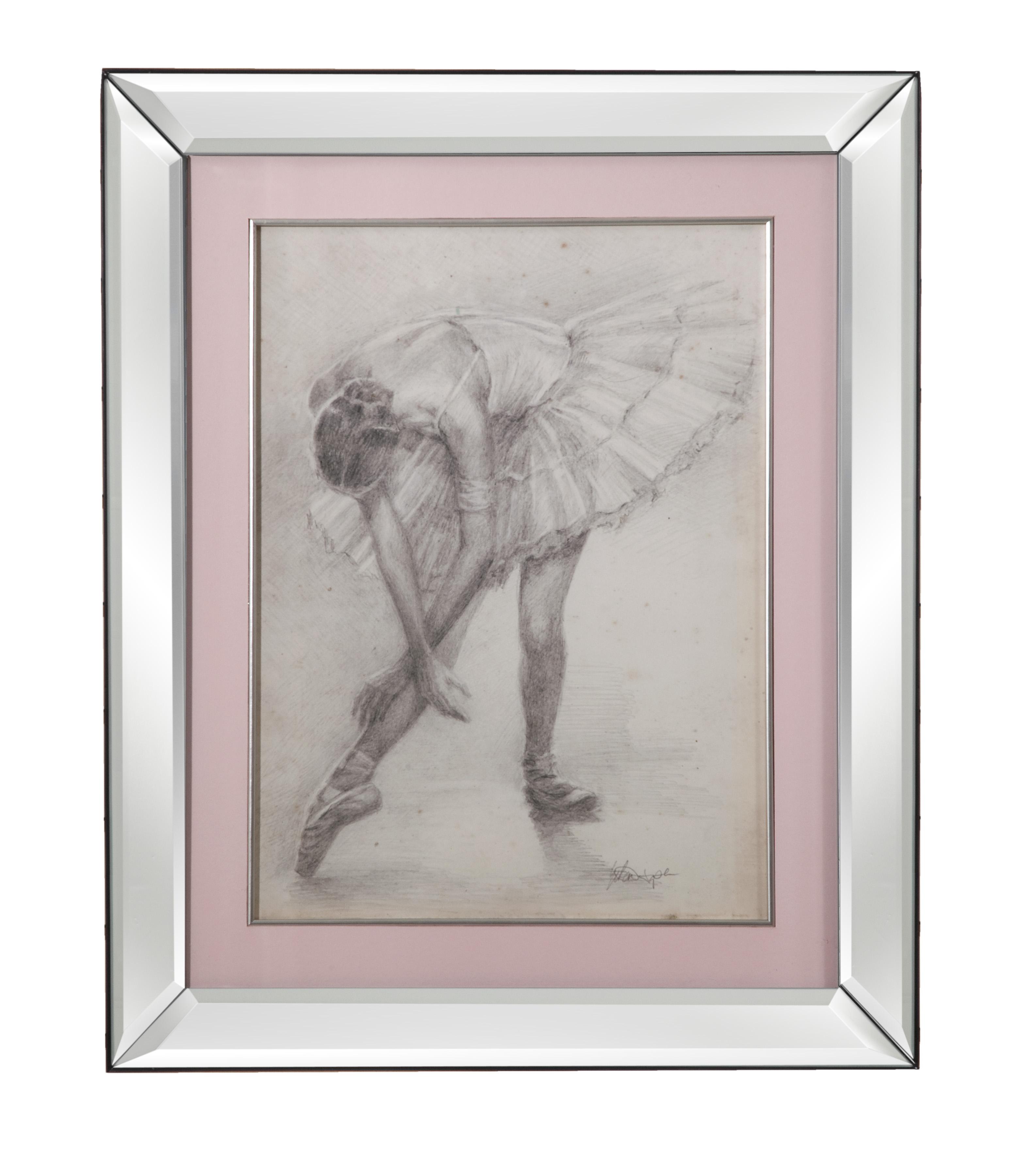 Hollywood Glam Antique Ballerina Study II by Bassett Mirror at Lapeer Furniture & Mattress Center