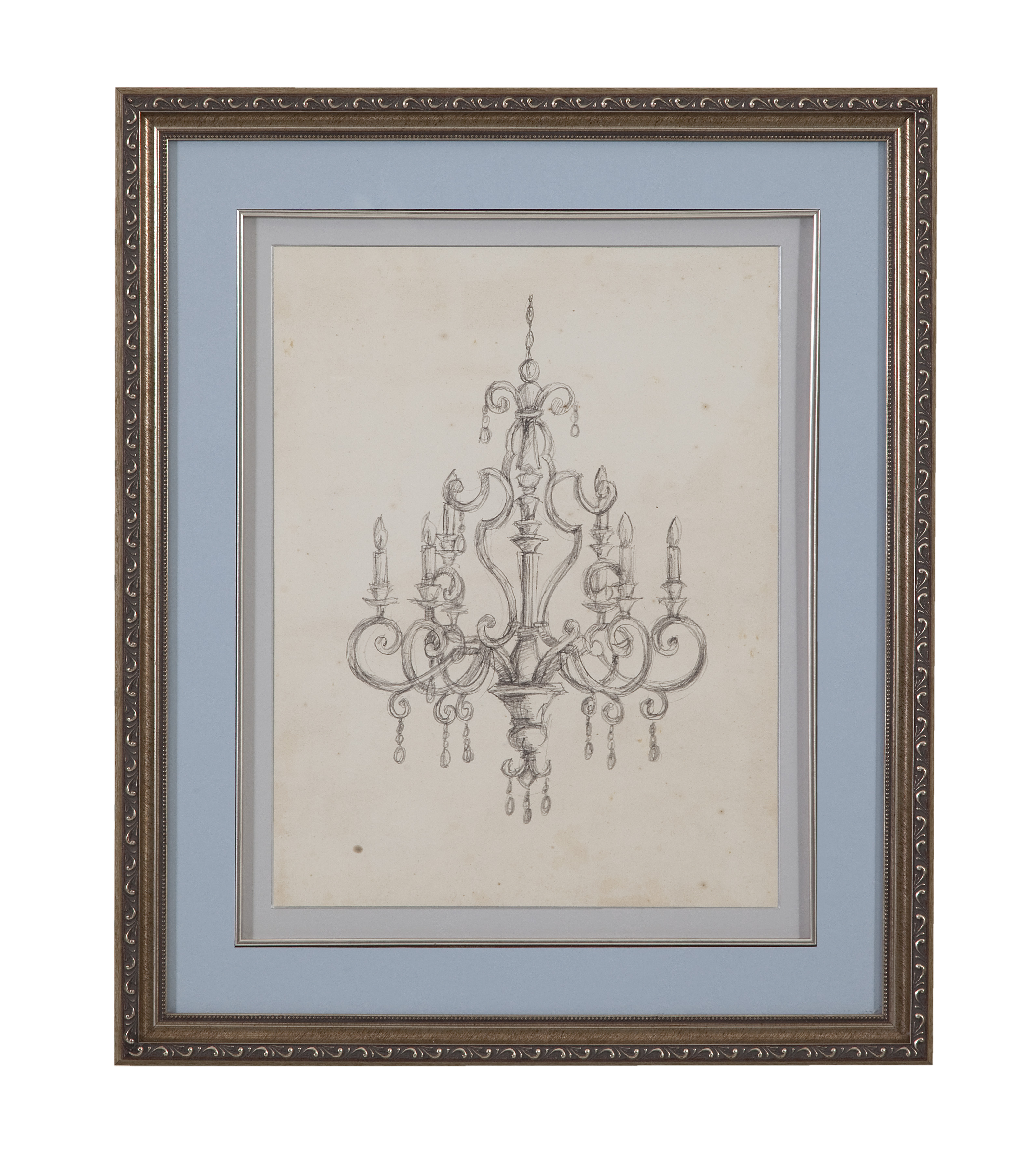 Hollywood Glam Classical Chandelier III by Bassett Mirror at Lapeer Furniture & Mattress Center
