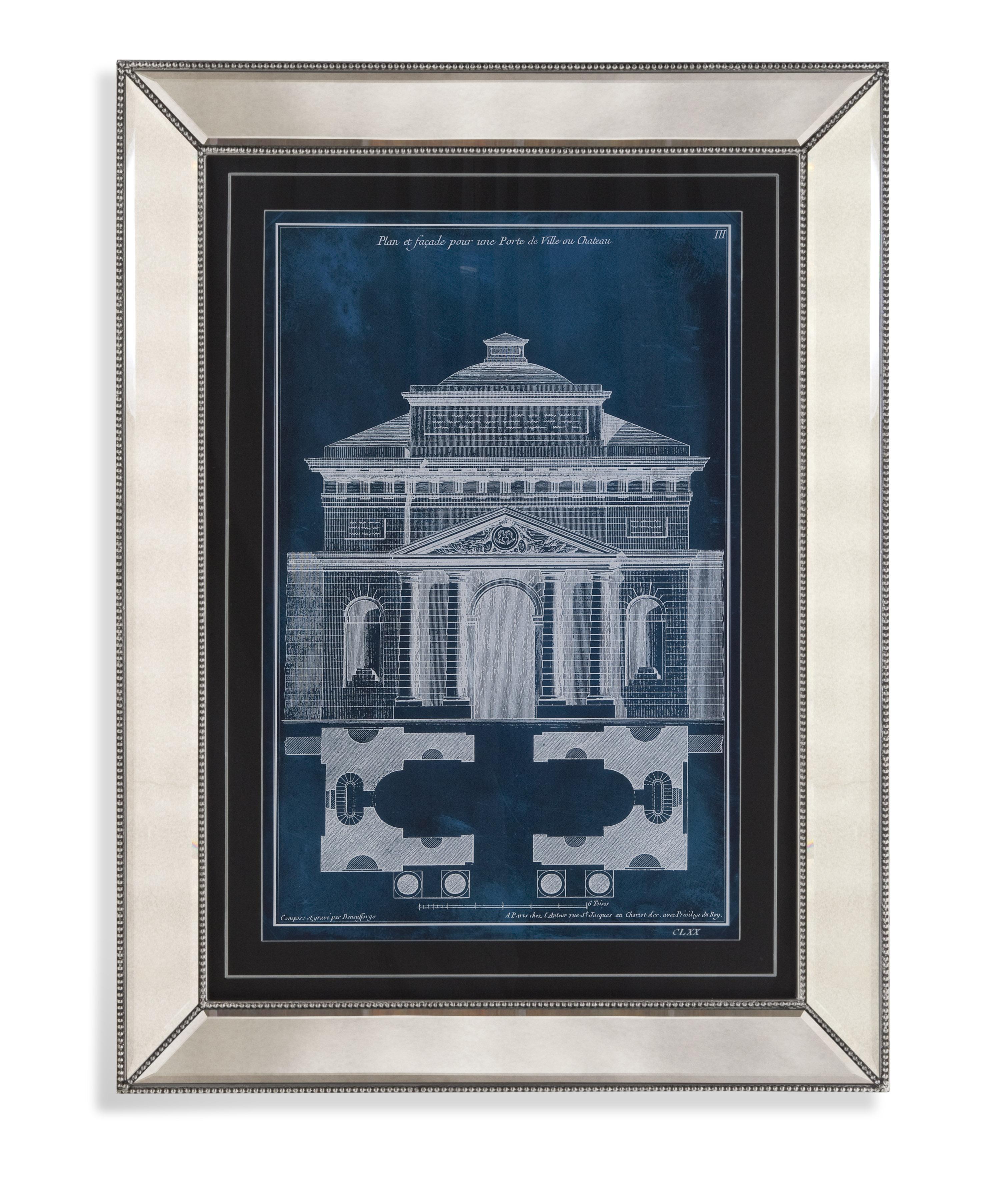Hollywood Glam Palace Facade Blueprint II by Bassett Mirror at Lapeer Furniture & Mattress Center