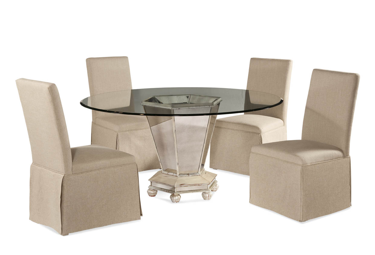 Hollywood Glam Reflections Casual Dining Set by Bassett Mirror at Alison Craig Home Furnishings