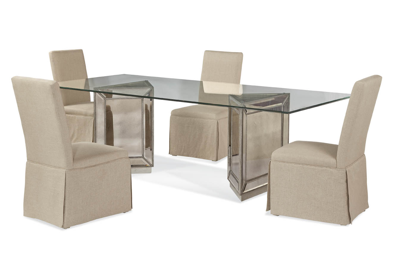 Hollywood Glam Murano Casual Dining Set by Bassett Mirror at Alison Craig Home Furnishings