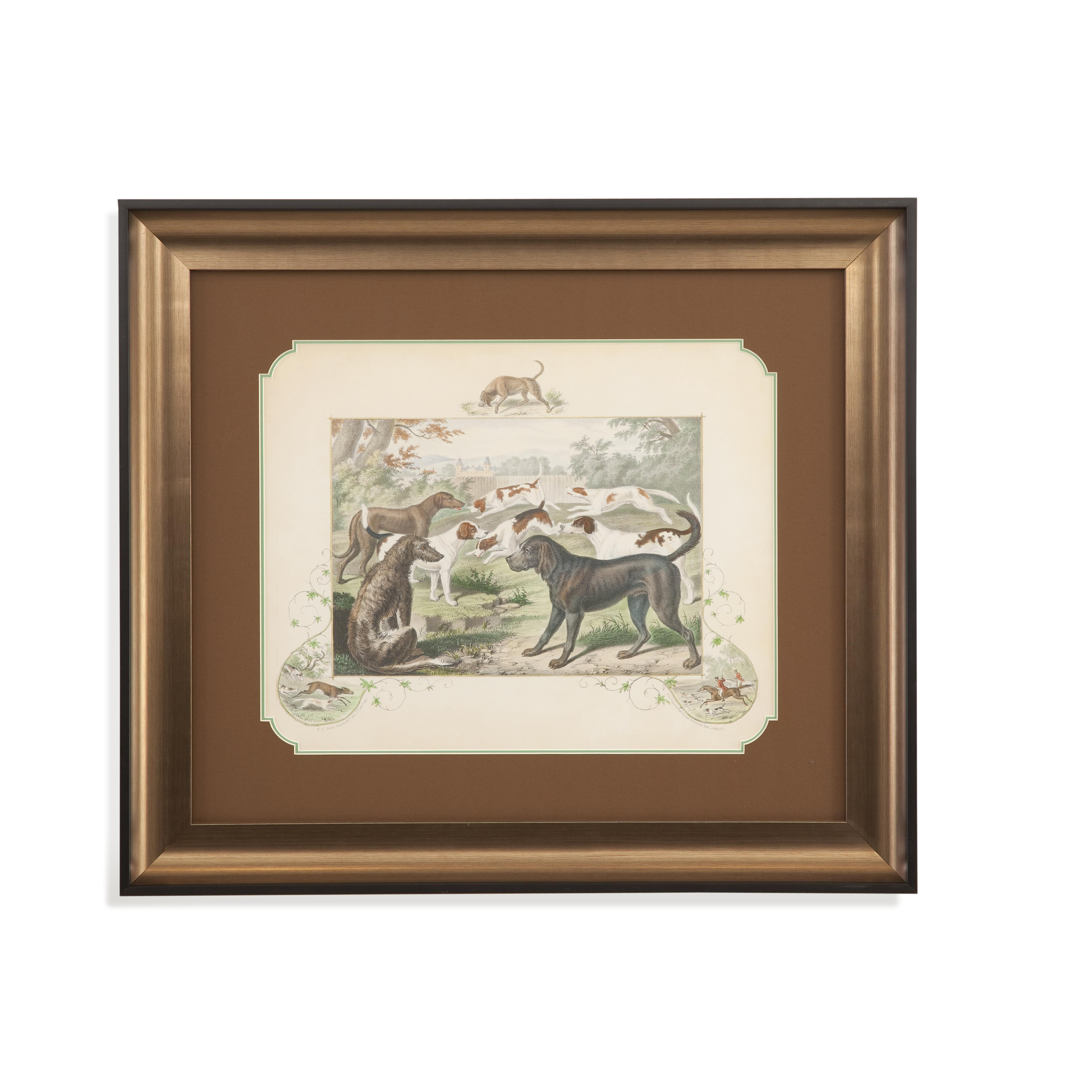 Home Accents A Group of Hounds by Bassett Mirror at Alison Craig Home Furnishings