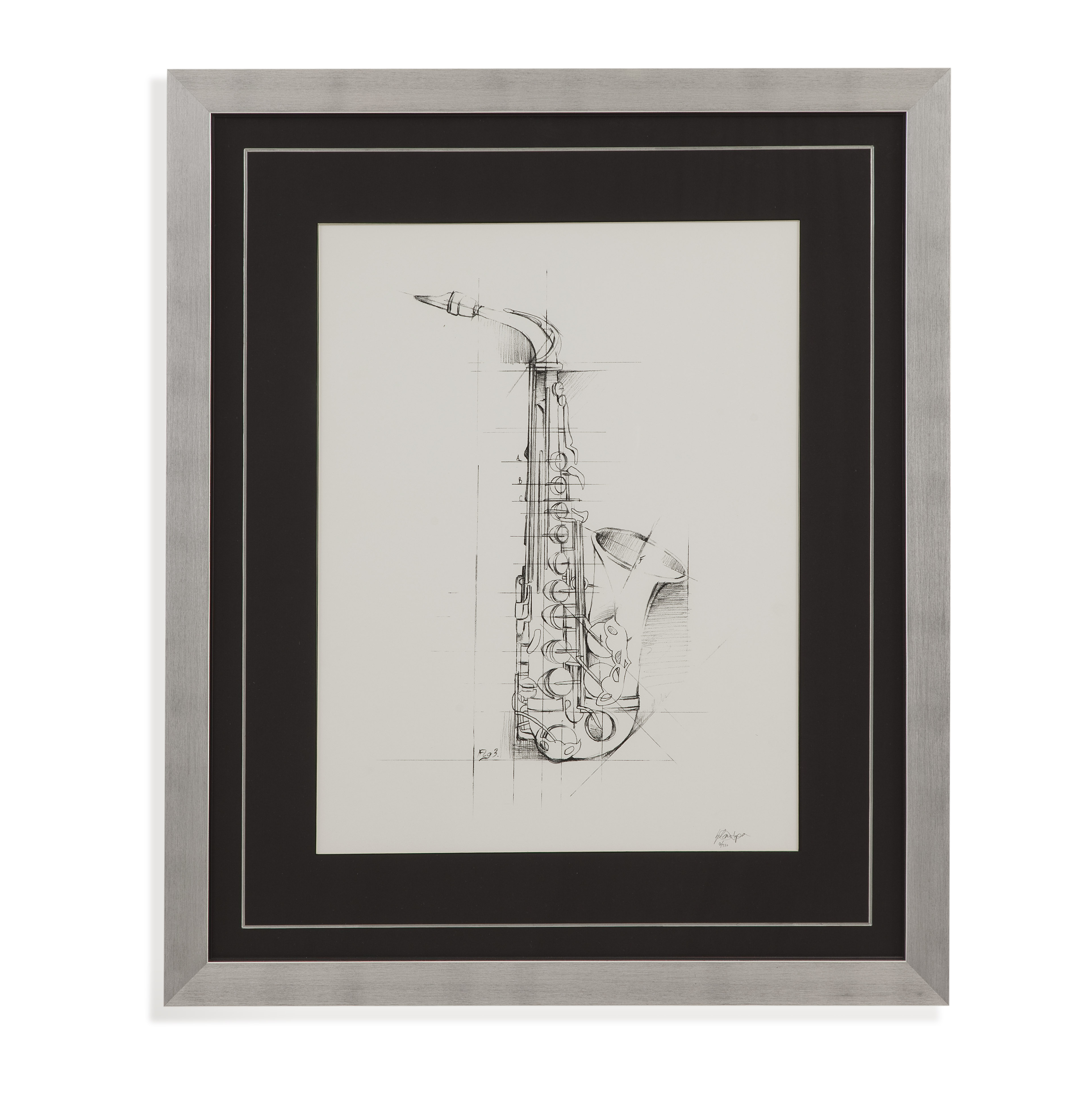 Home Accents Saxaphone Sketch by Bassett Mirror at Alison Craig Home Furnishings