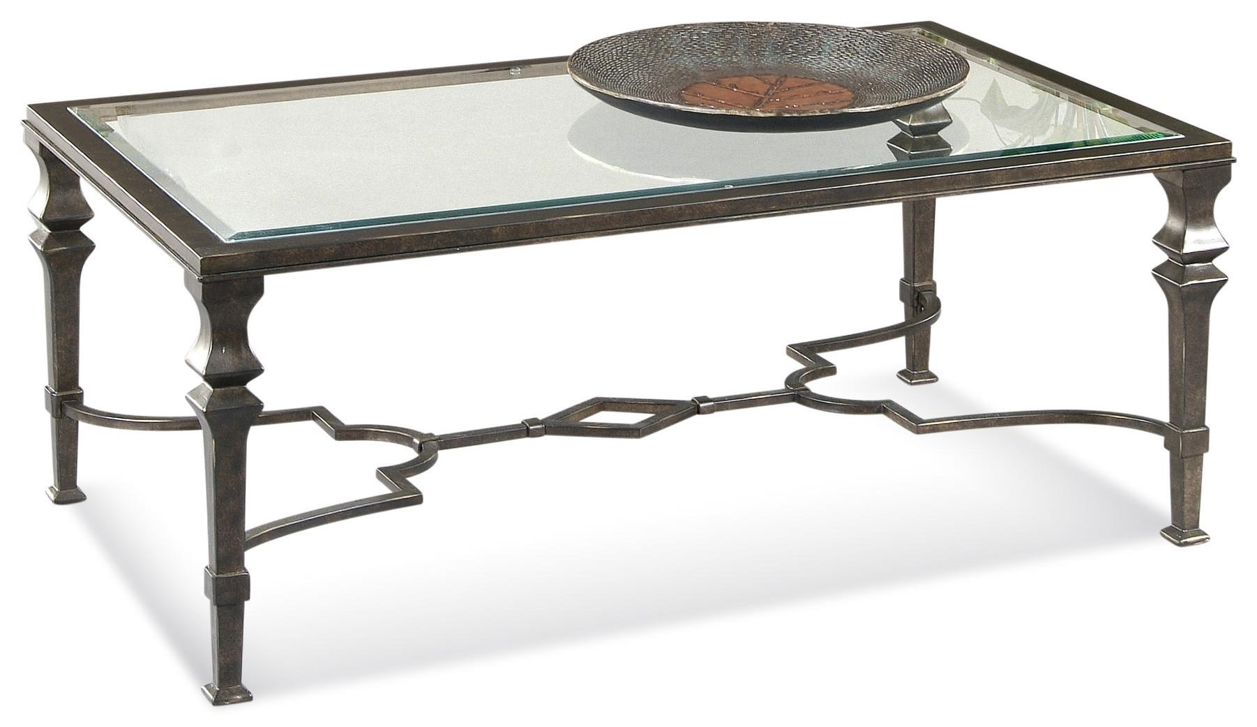 Lido Rectangle Cocktail Table by Bassett Mirror at Johnny Janosik