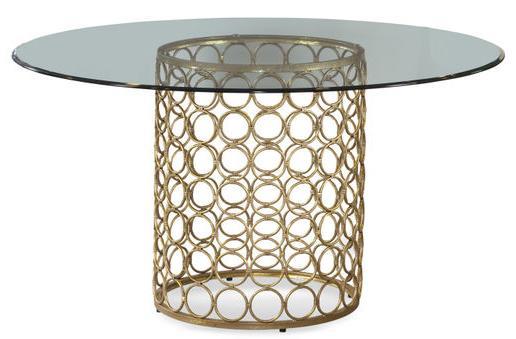 MidCentury Modern Round Table by Bassett Mirror at Lapeer Furniture & Mattress Center