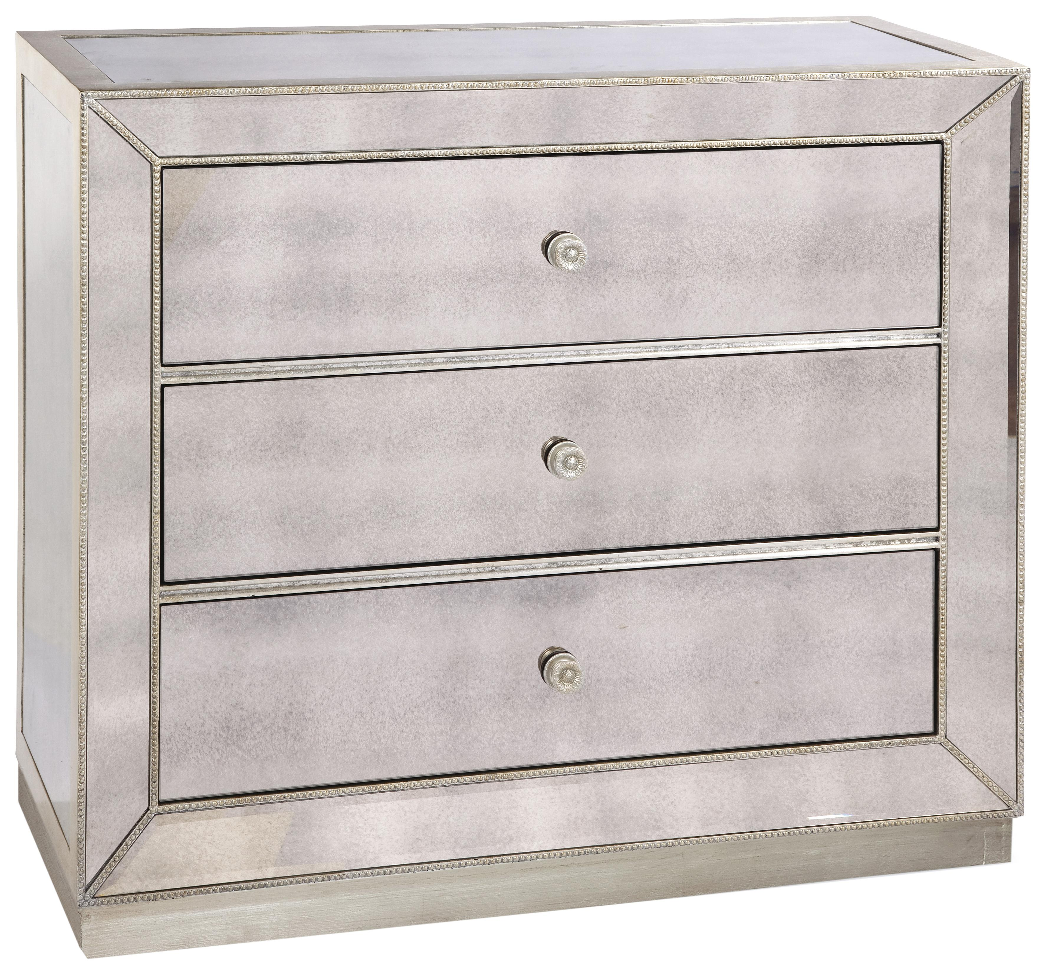 Murano Antique Mirror Chest by Bassett Mirror at Alison Craig Home Furnishings