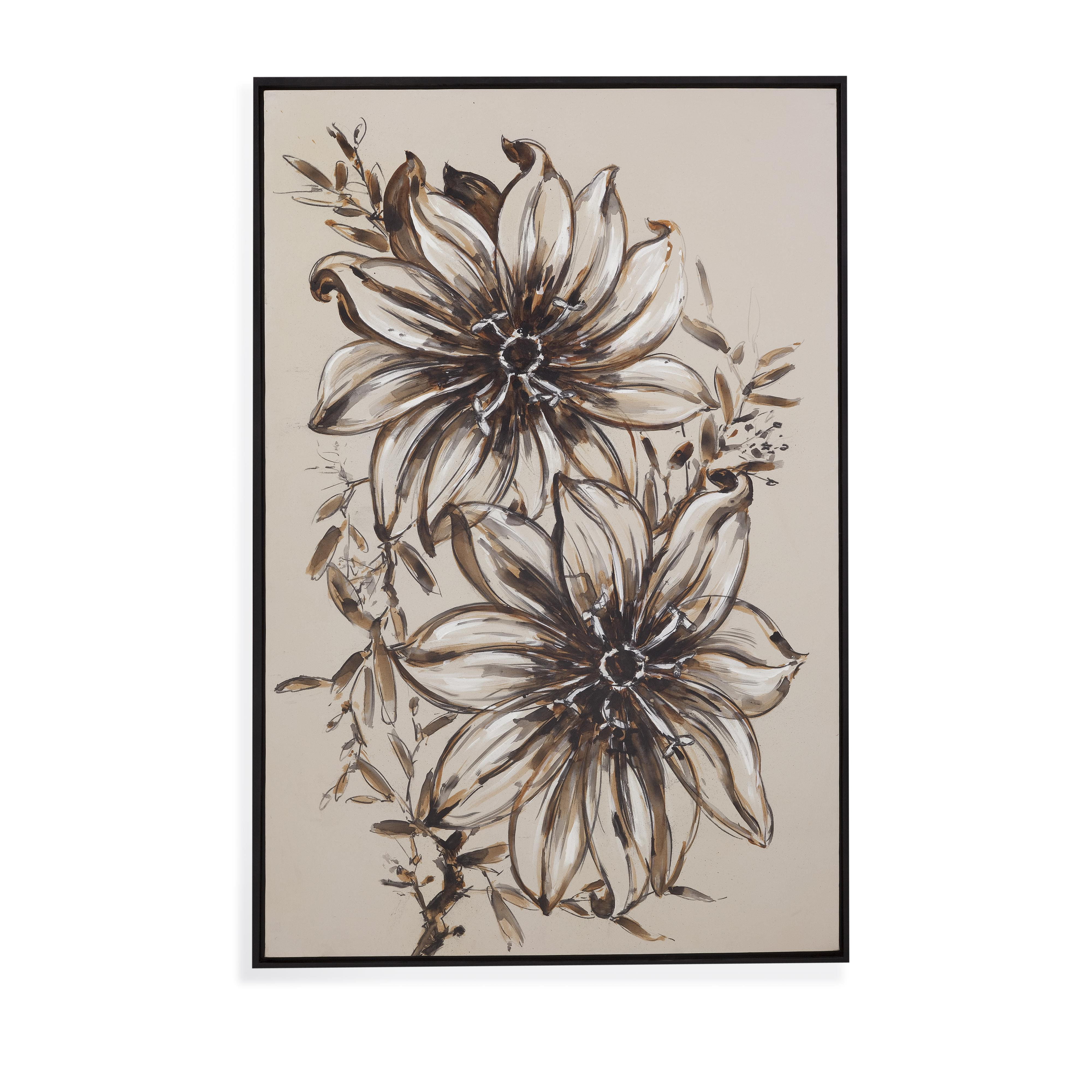 Old World Floral Sketch at Ruby Gordon Home