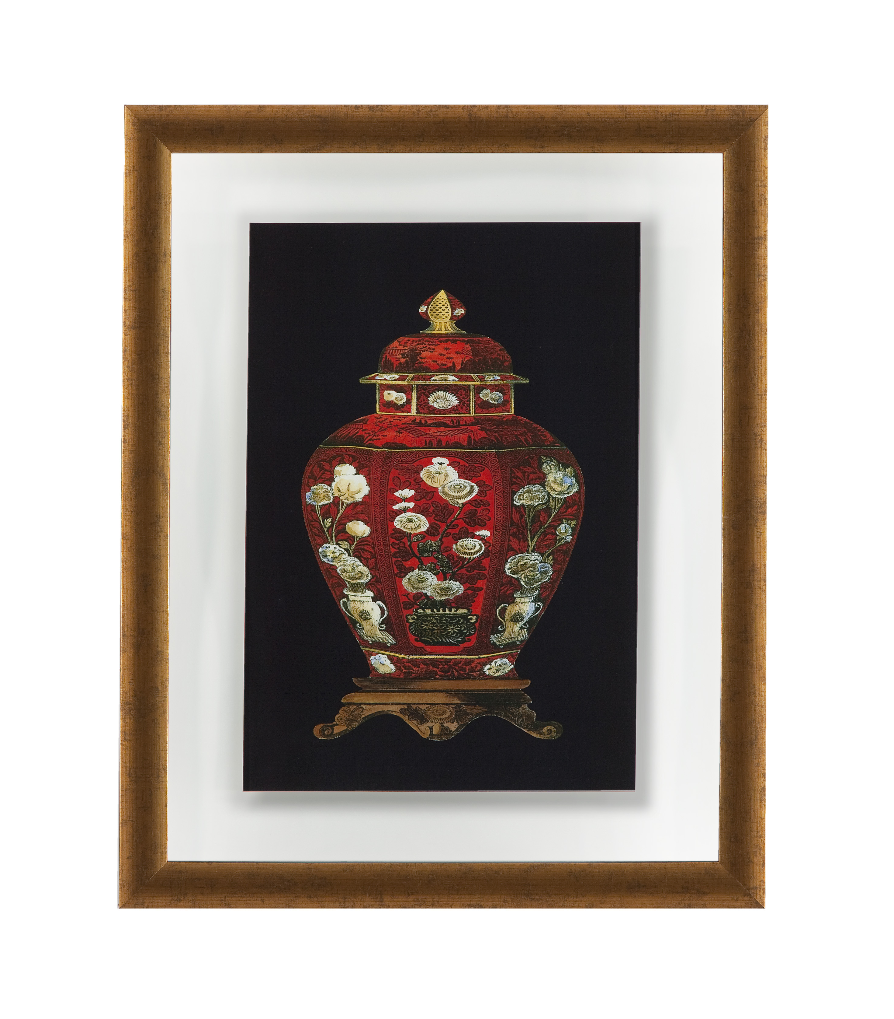 Old World Red Porcelain Vase I by Bassett Mirror at Dream Home Interiors