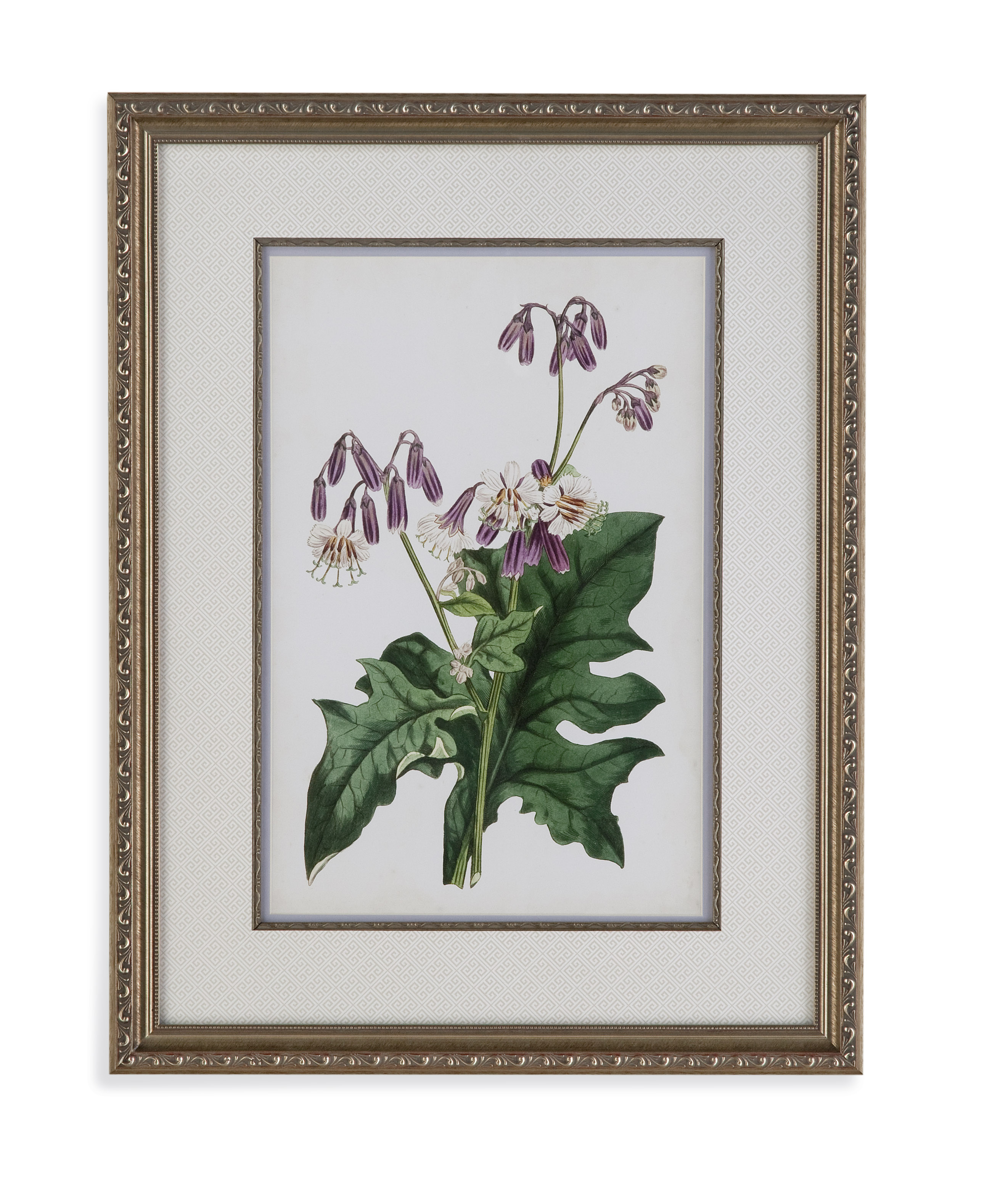 Old World Lavender Florals VII by Bassett Mirror at Alison Craig Home Furnishings