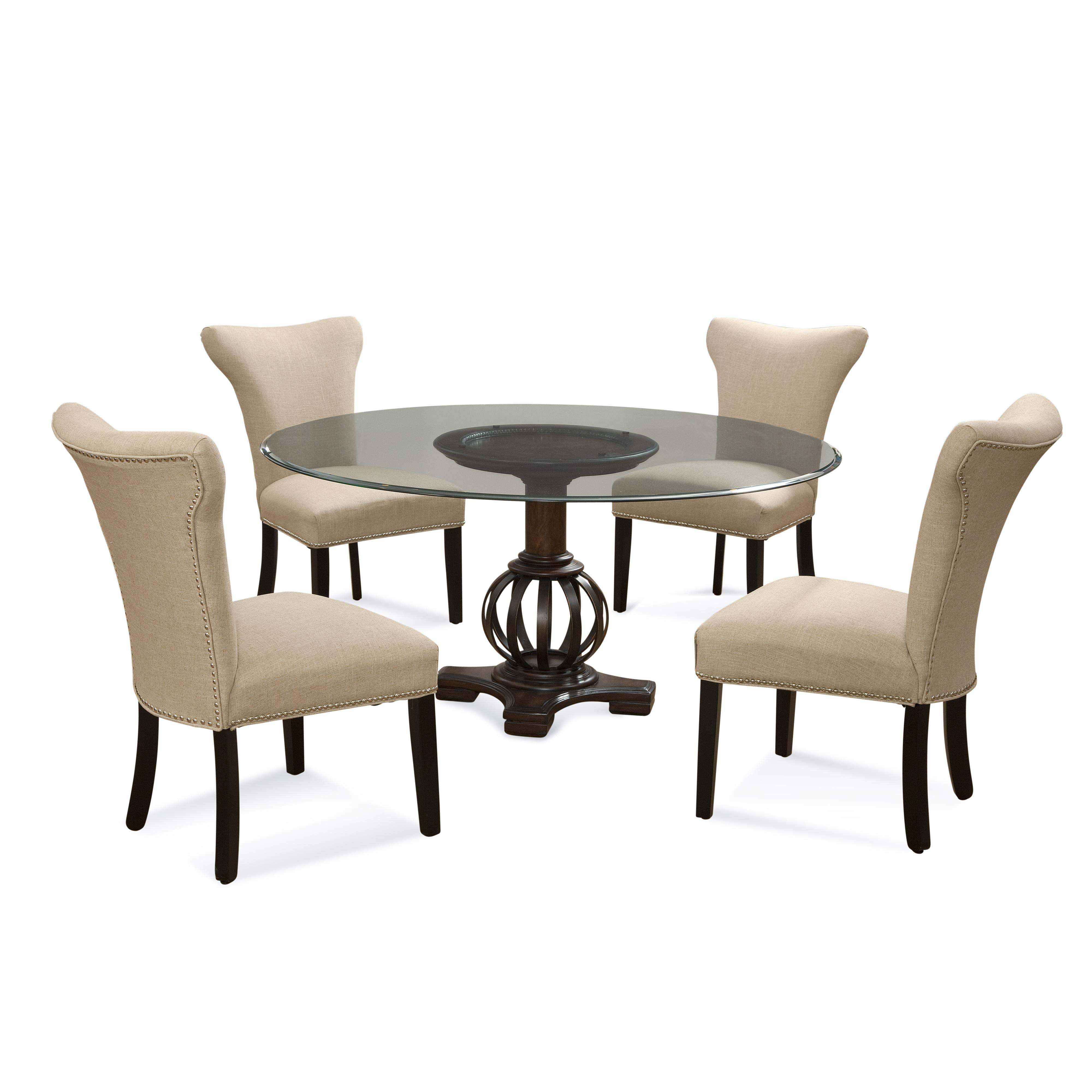 Old World Grenadine Casual Dining Set by Bassett Mirror at Alison Craig Home Furnishings