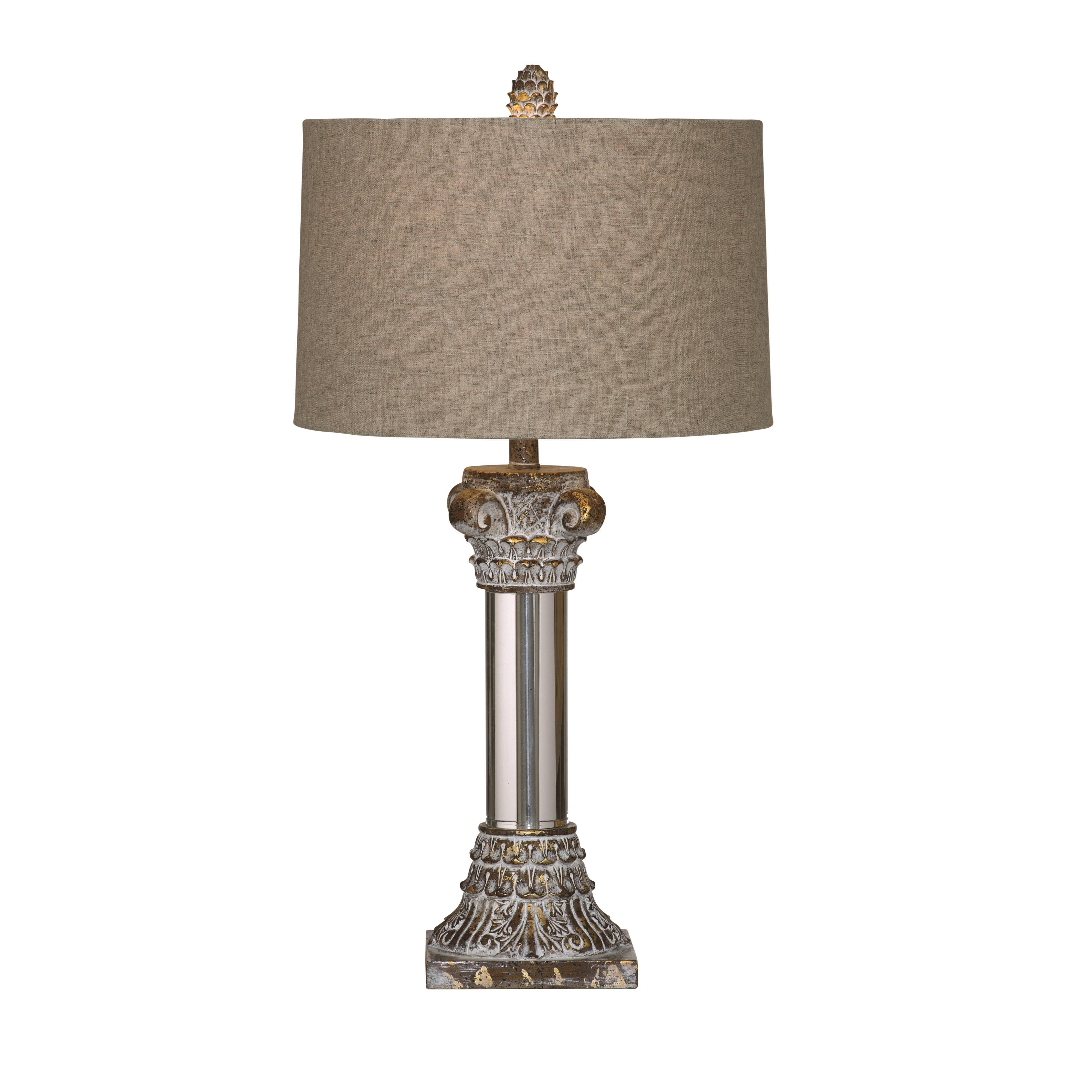 Old World Corinth Table Lamp by Bassett Mirror at Alison Craig Home Furnishings