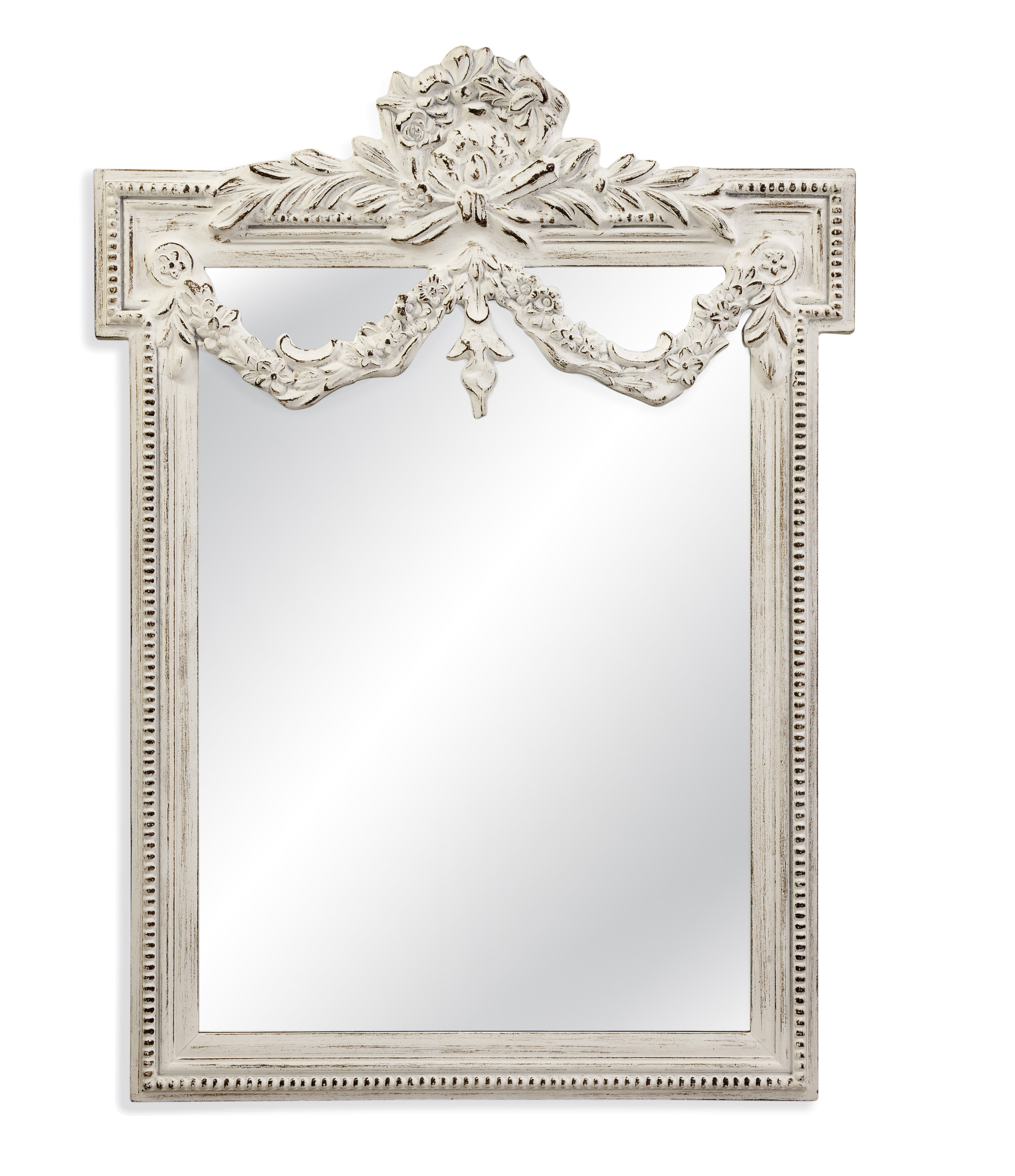 Old World Edwin Wall Mirror by Bassett Mirror at Alison Craig Home Furnishings
