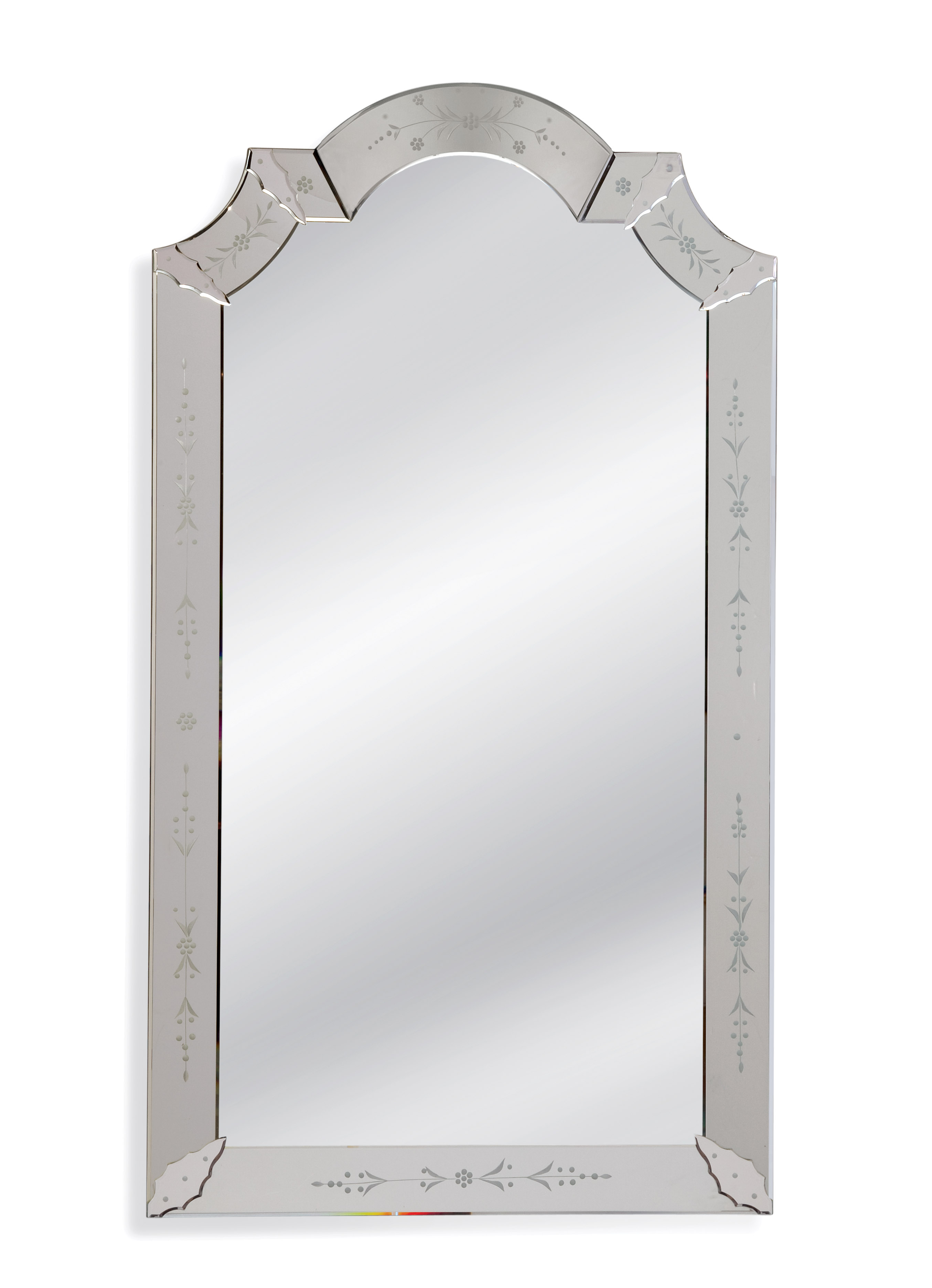 Old World Mabel Wall Mirror by Bassett Mirror at Alison Craig Home Furnishings