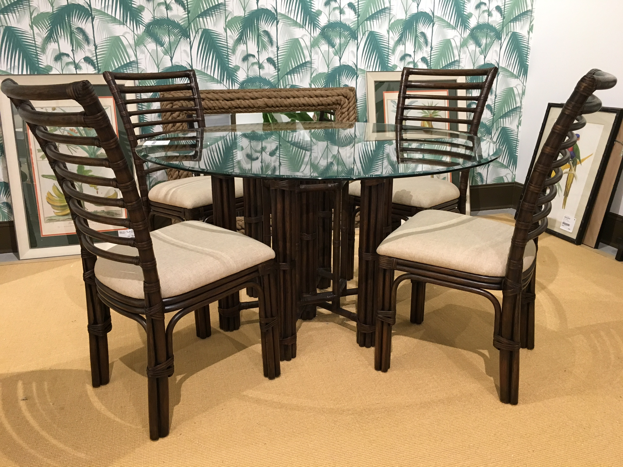 Pan Pacific Logan Dining Table by Bassett Mirror at Alison Craig Home Furnishings