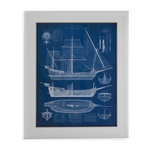 Antique Ship Blueprint I