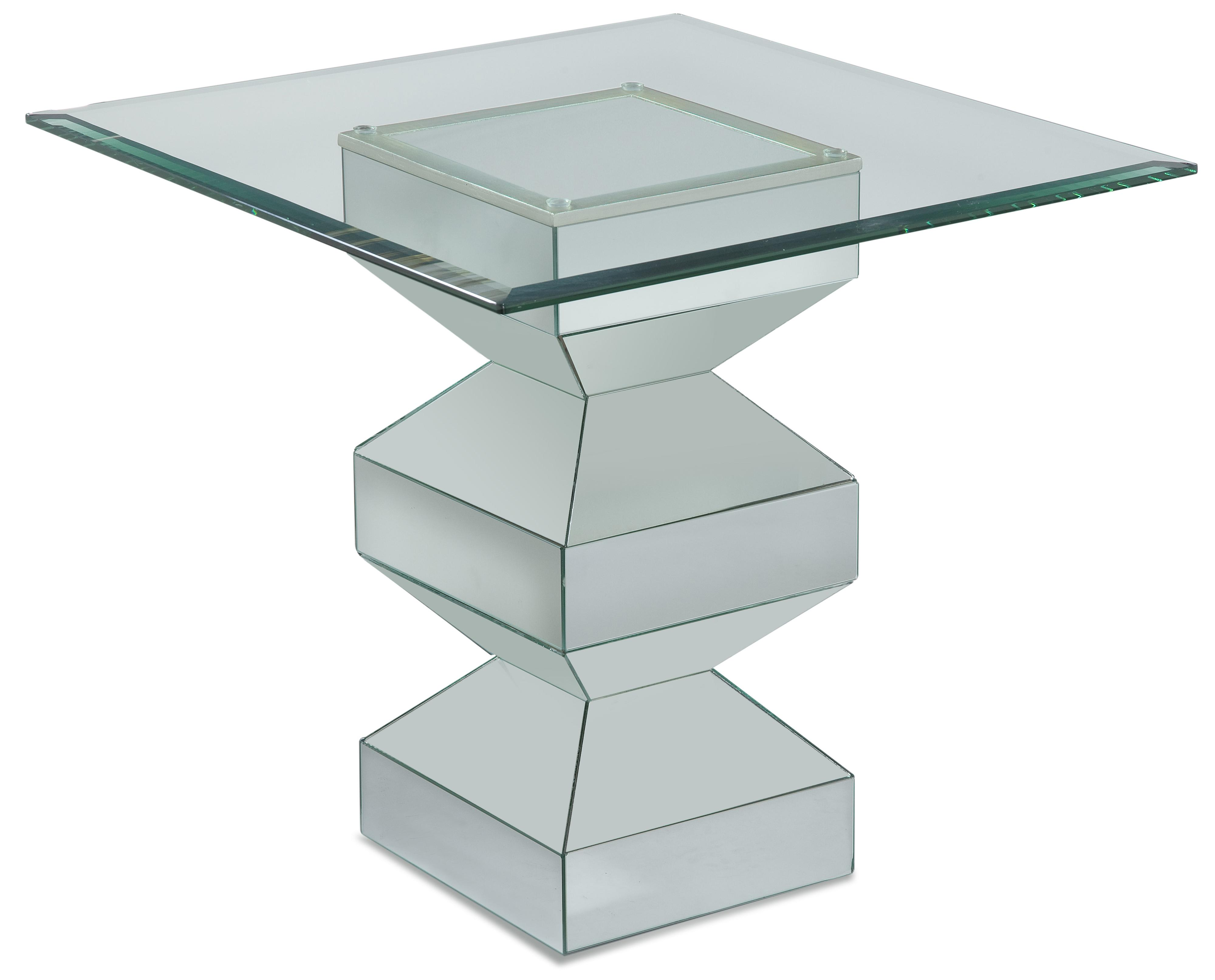 Paparazzo Rectangular End Table by Bassett Mirror at Nassau Furniture and Mattress