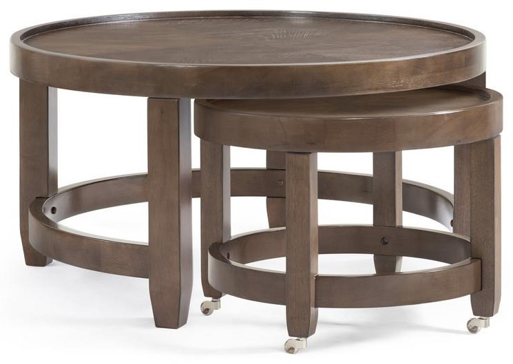 Paxton Round Cocktail Table by Bassett Mirror at Johnny Janosik