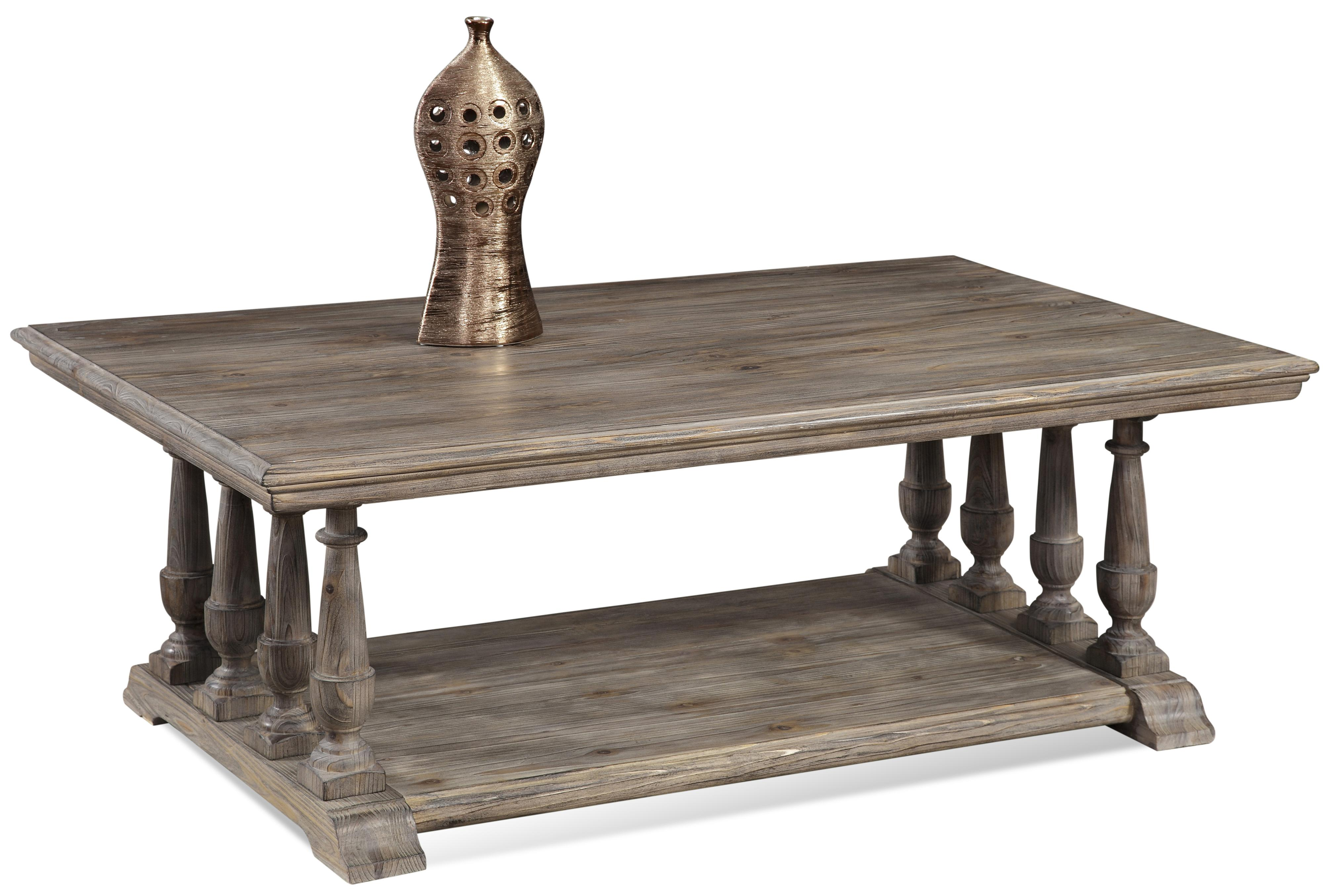 Pemberton Rectangular Cocktail Table by Bassett Mirror at Lapeer Furniture & Mattress Center