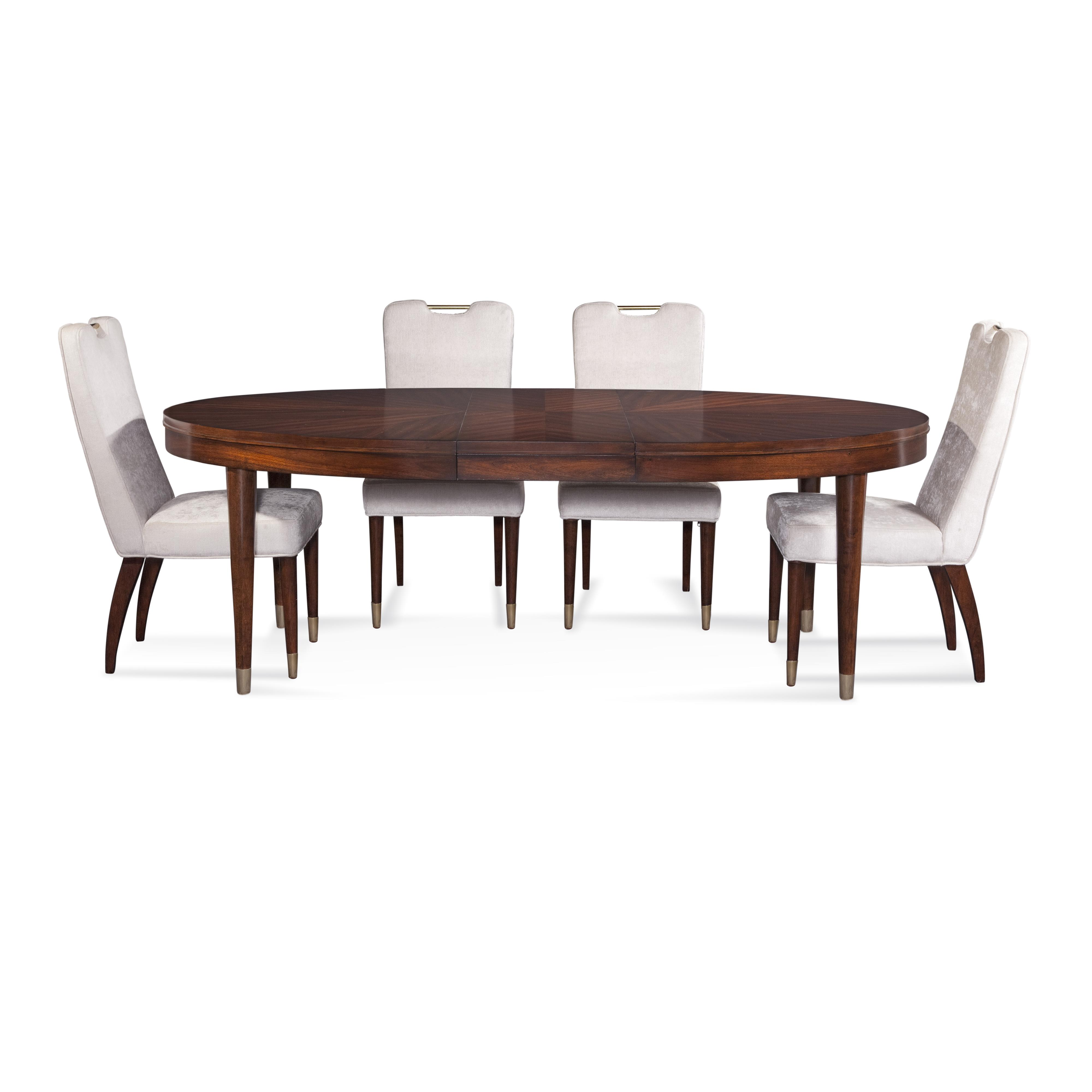 Thoroughly Modern Darrien Casual Dining Set by Bassett Mirror at Alison Craig Home Furnishings