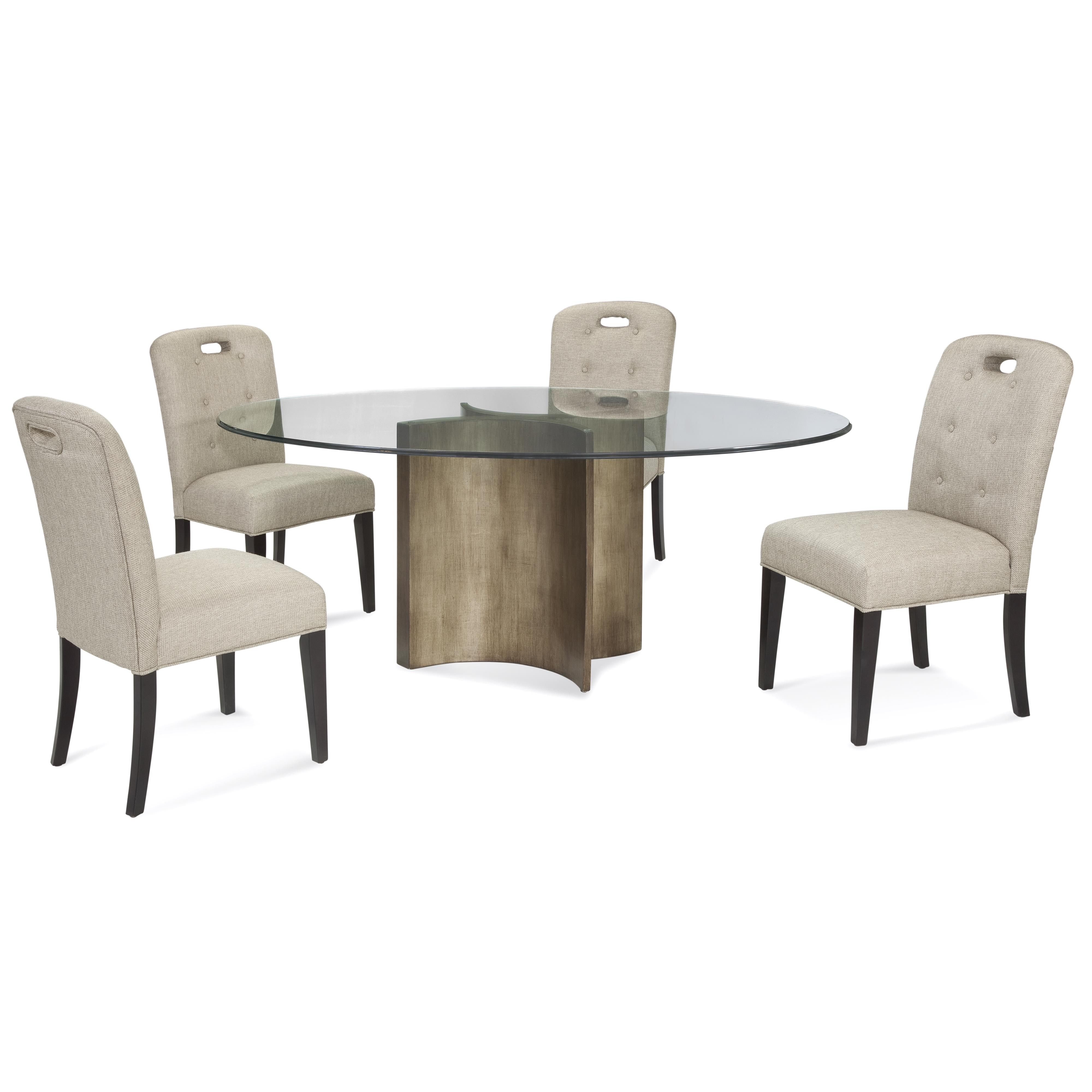 Thoroughly Modern Symmetry Casual Dining Set by Bassett Mirror at Alison Craig Home Furnishings