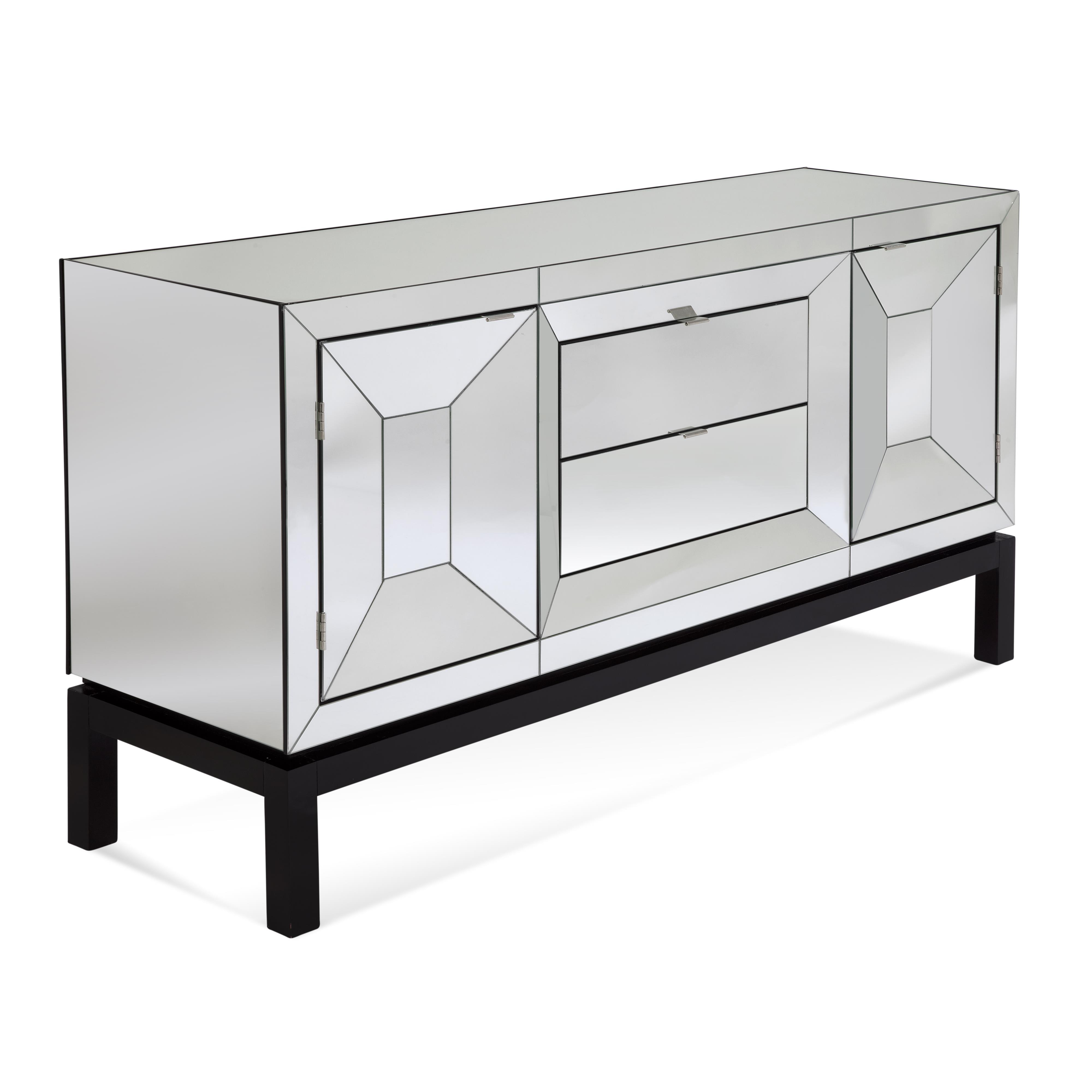 Thoroughly Modern Taney Buffett by Bassett Mirror at Lapeer Furniture & Mattress Center