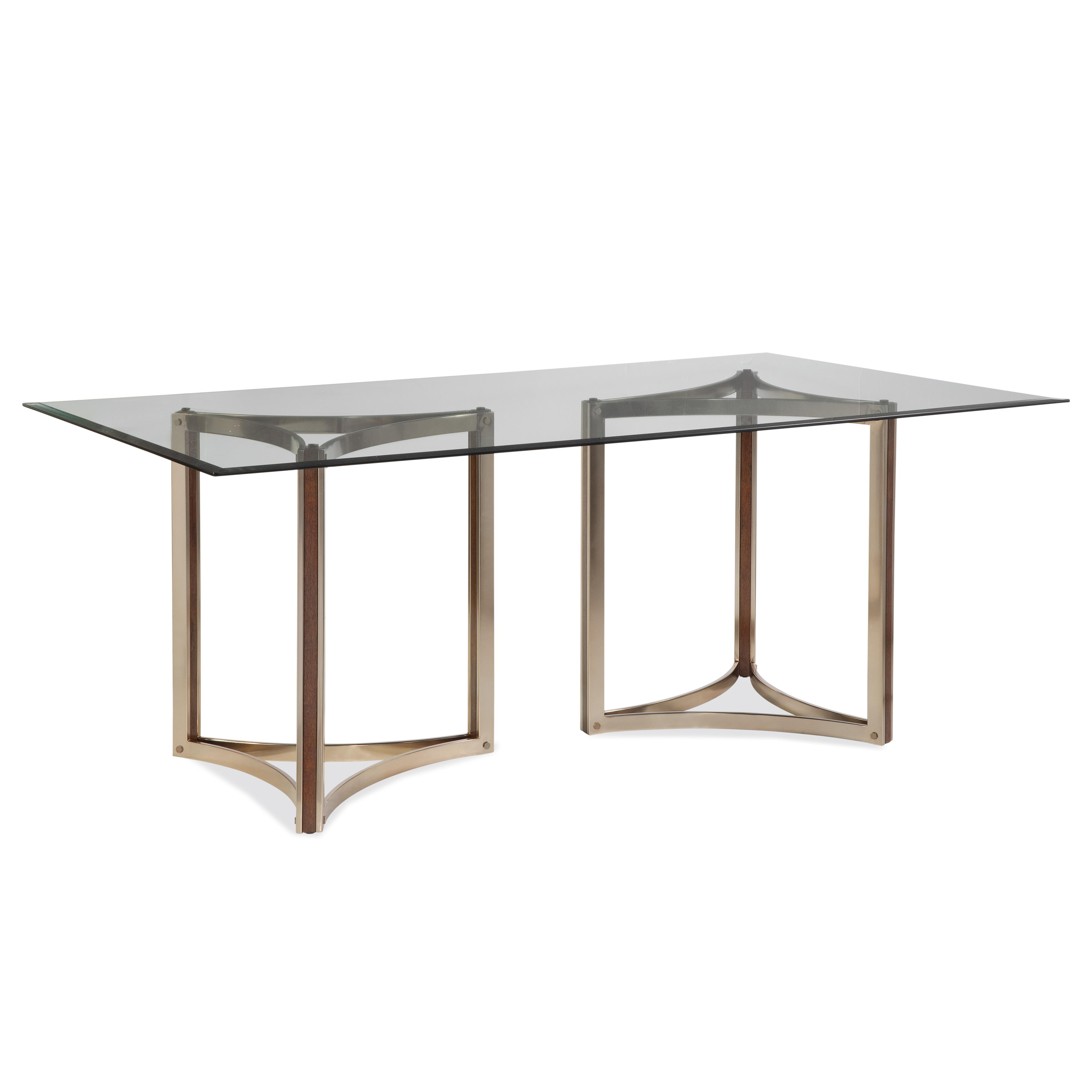 Thoroughly Modern Cornell Dining Table by Bassett Mirror at Alison Craig Home Furnishings